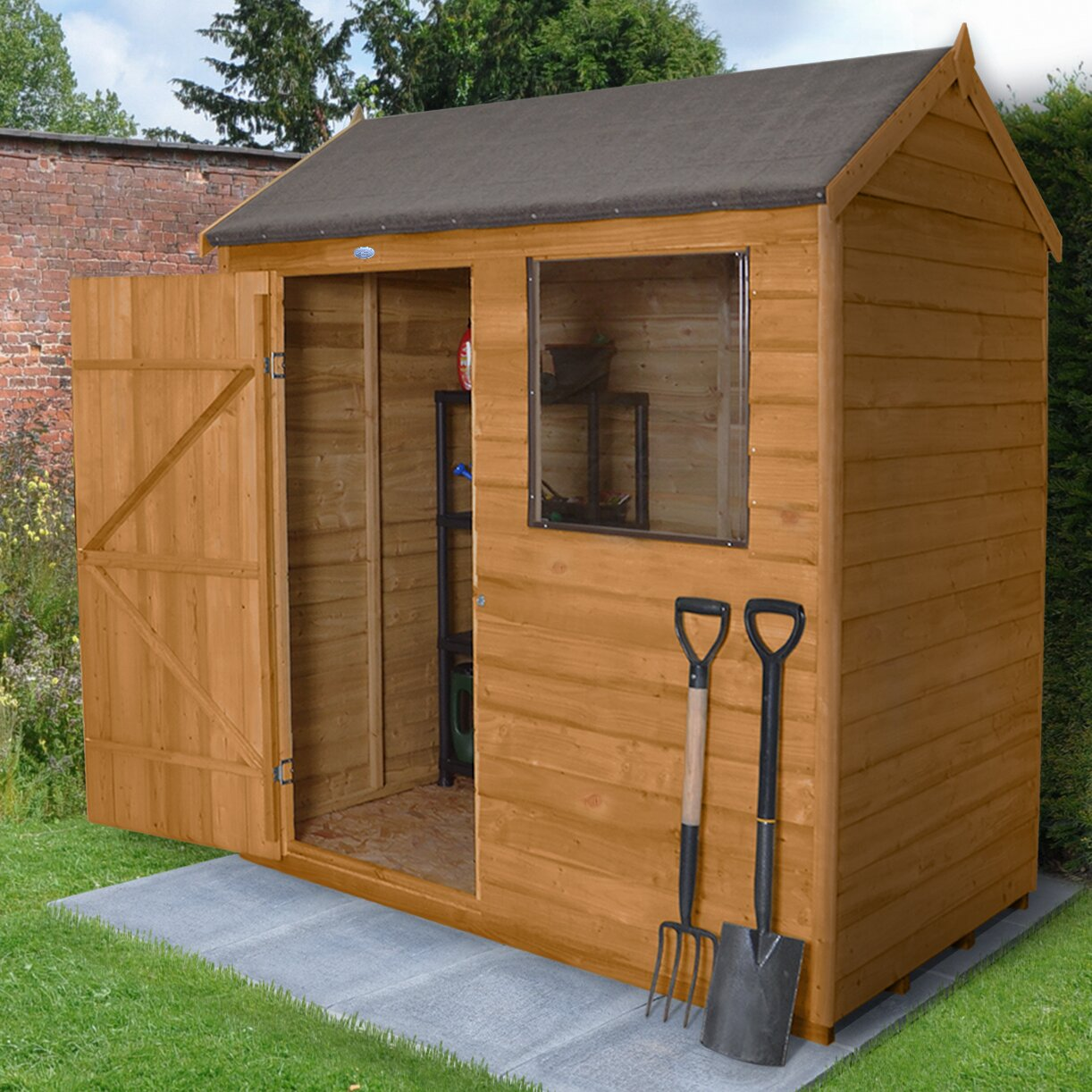 Forest garden 6 x 4 wooden storage shed reviews wayfair uk for Garden shed 6 x 4