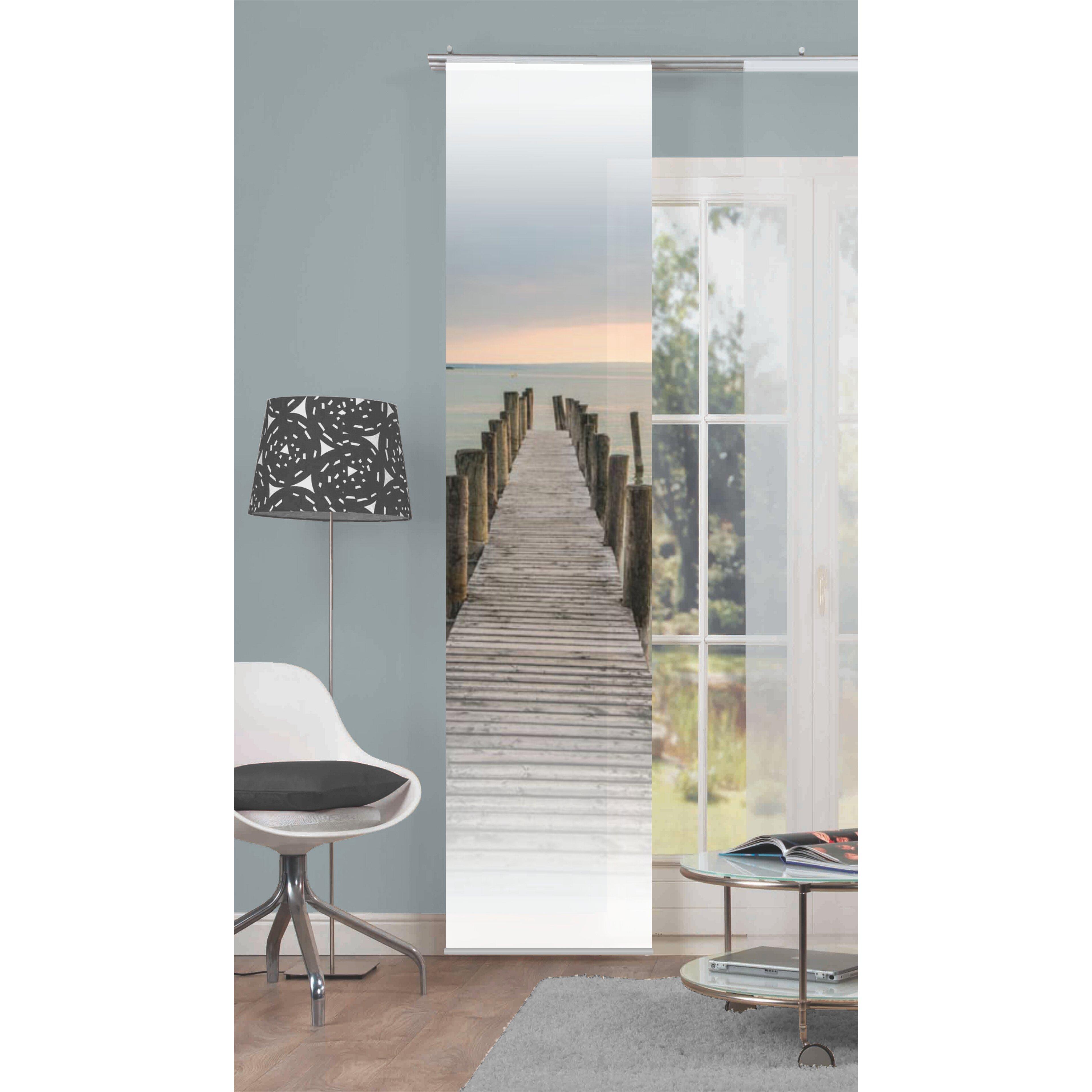 home wohnideen schiebvorhang windsor. Black Bedroom Furniture Sets. Home Design Ideas