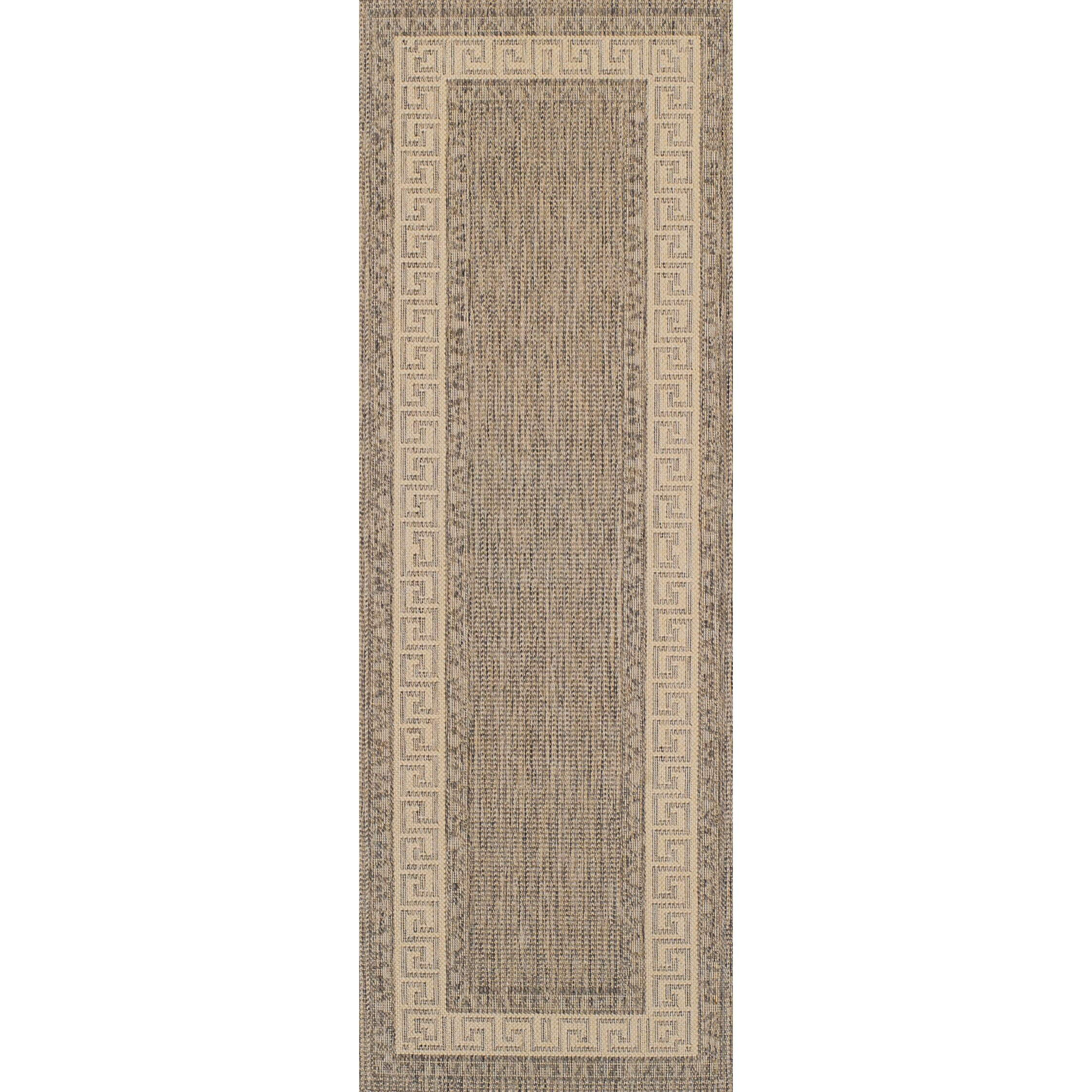 Oriental Weavers Greek Key Flatweave Taupe Area Rug