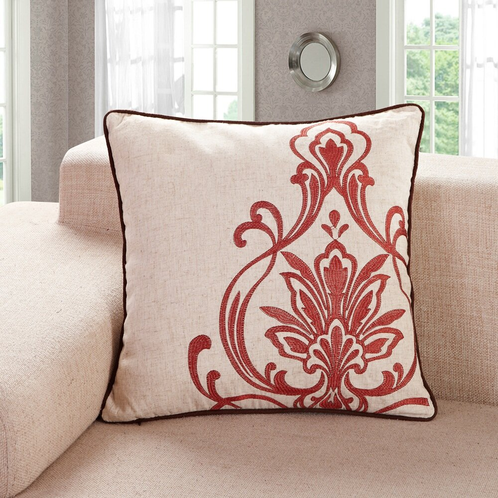 Calla Angel Embroidered Throw Pillow & Reviews Wayfair