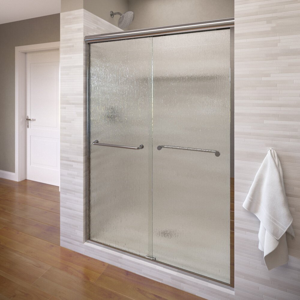 Basco Infinity 59 X 70 Frameless Bypass Sliding Shower