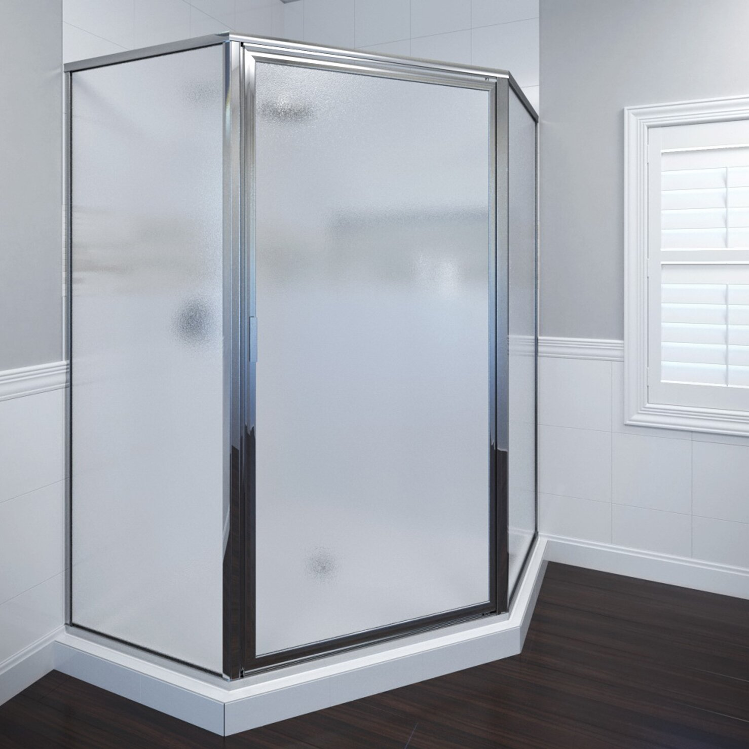 "Basco Deluxe 65.13"" X 48.5"" Neo-Angle Shower Door"