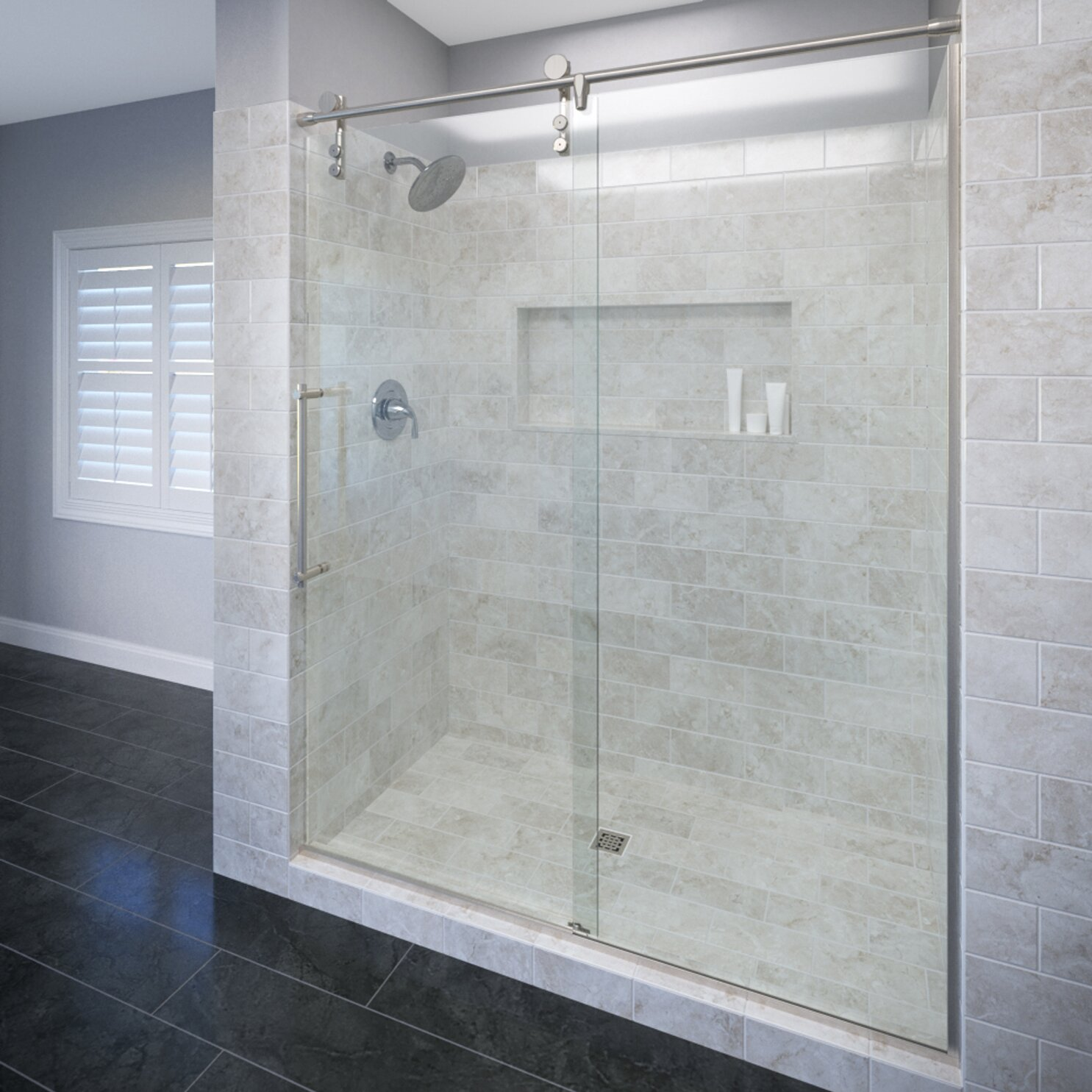 Basco Sliding Shower Doors Basco Infinity 58 1 2 In X 70