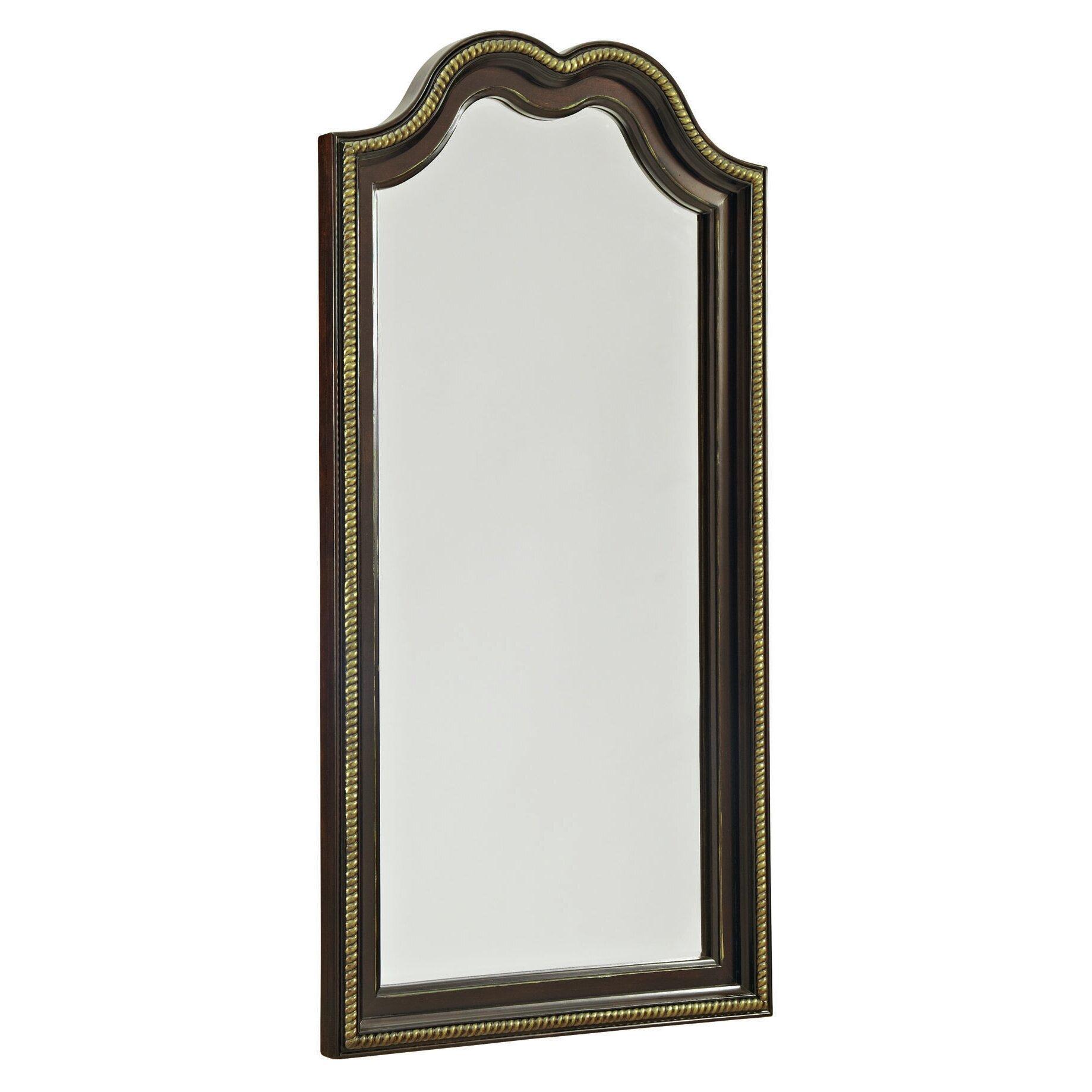 Avalon furniture glam style floor mirror wayfair for Glass floor mirror