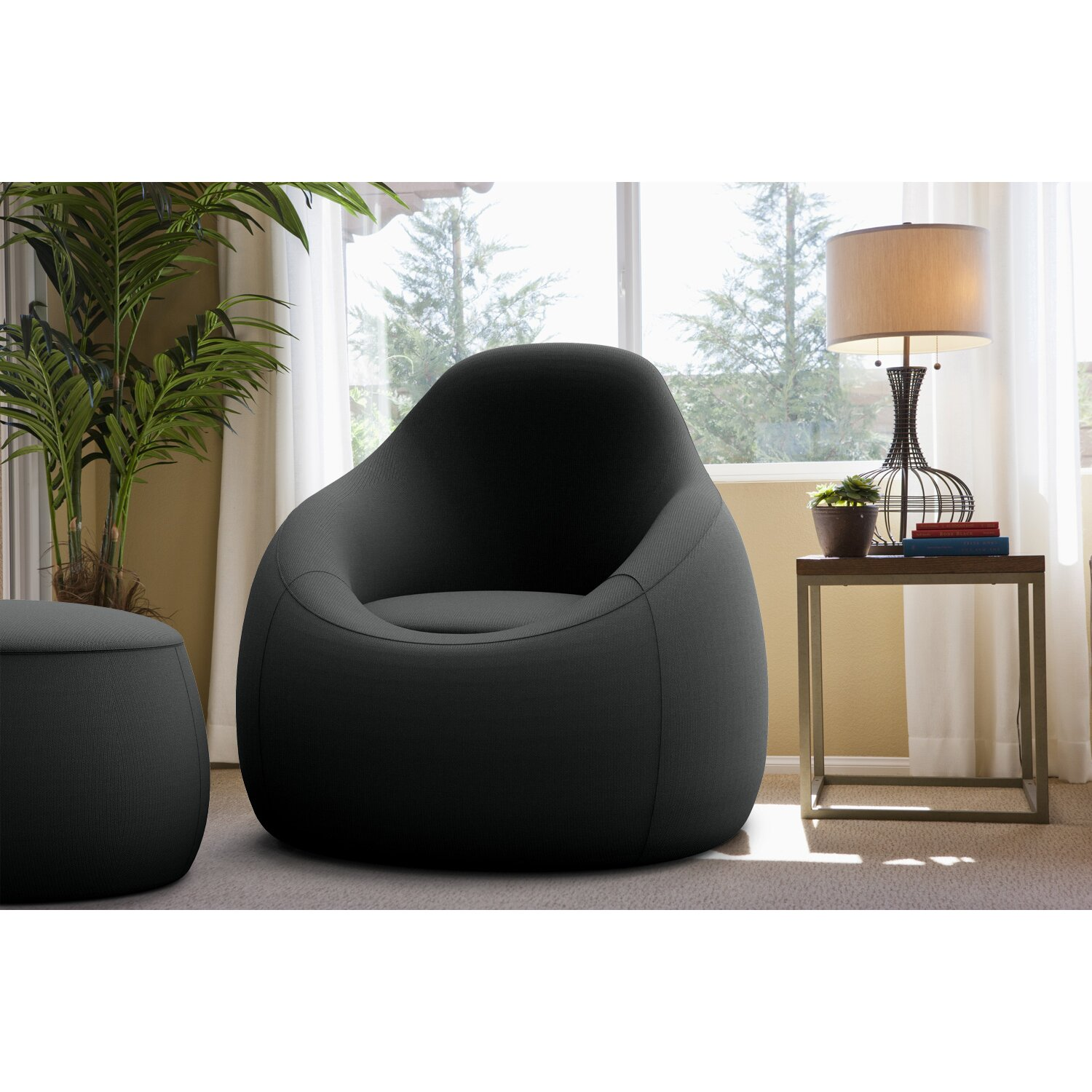 Omo Modern Memory Foam Lounge Chair With Ottoman Amp Reviews