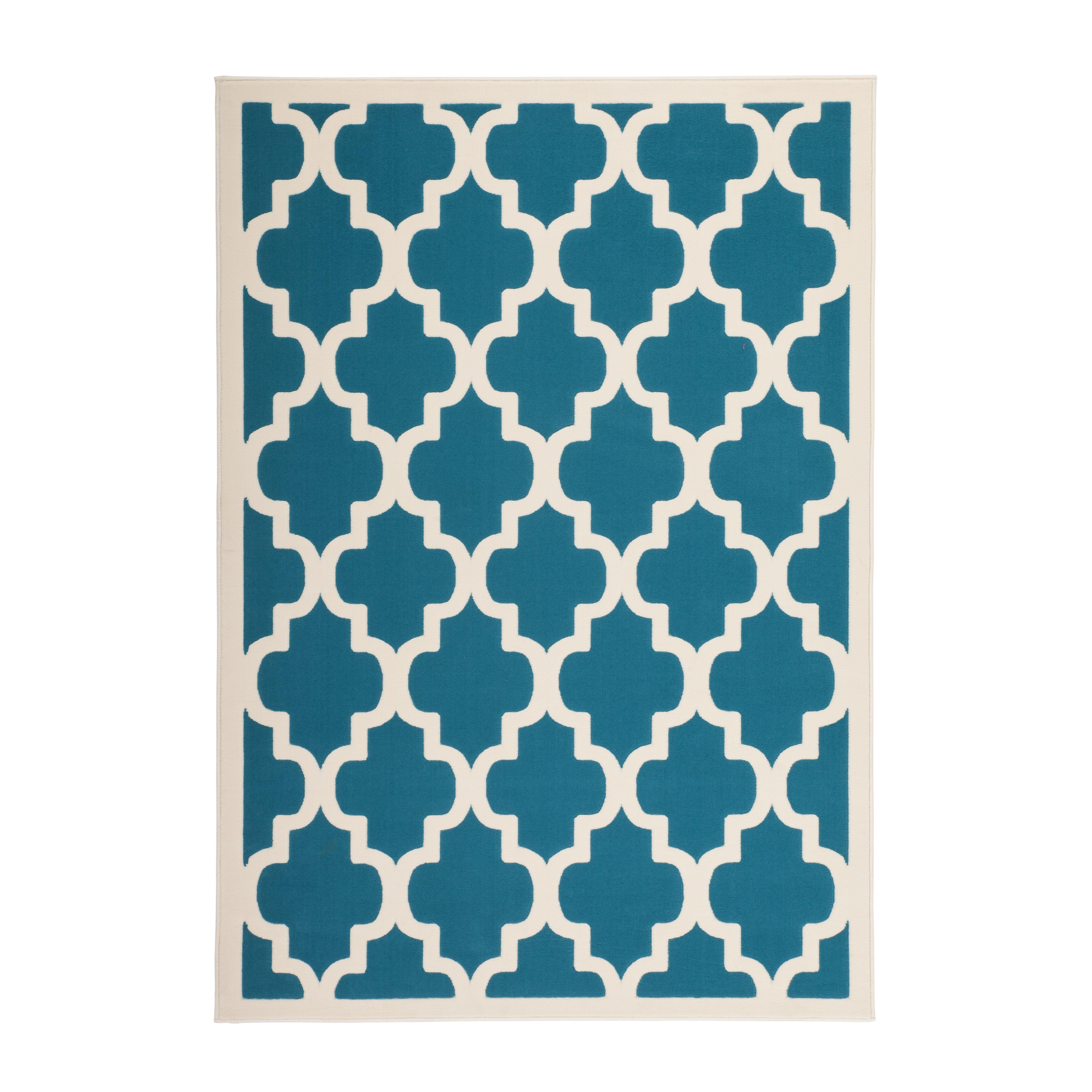 kayoom manolya turquoise area rug reviews wayfair uk. Black Bedroom Furniture Sets. Home Design Ideas