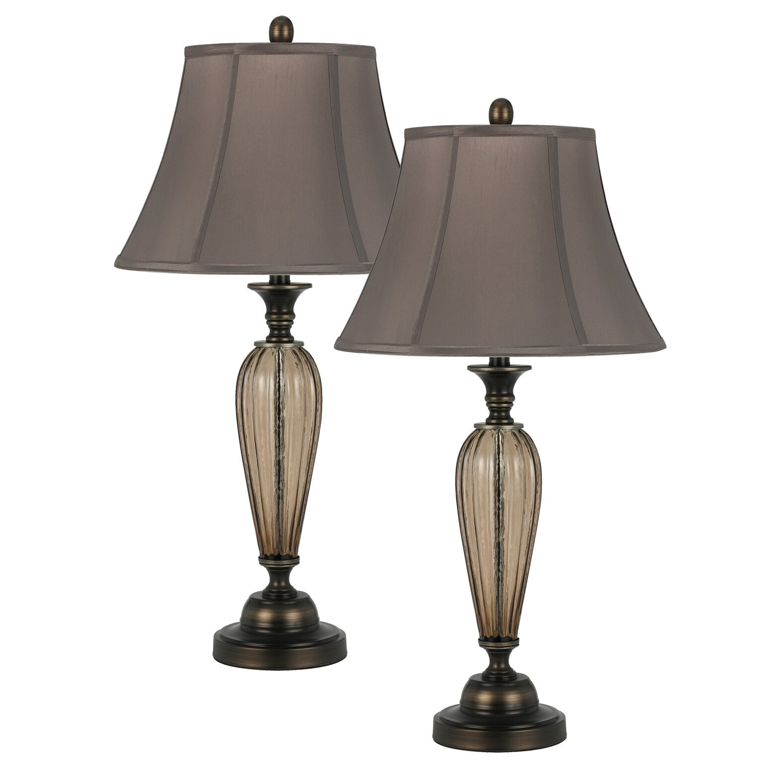cal lighting antigo 31 table lamps set of 2 reviews. Black Bedroom Furniture Sets. Home Design Ideas