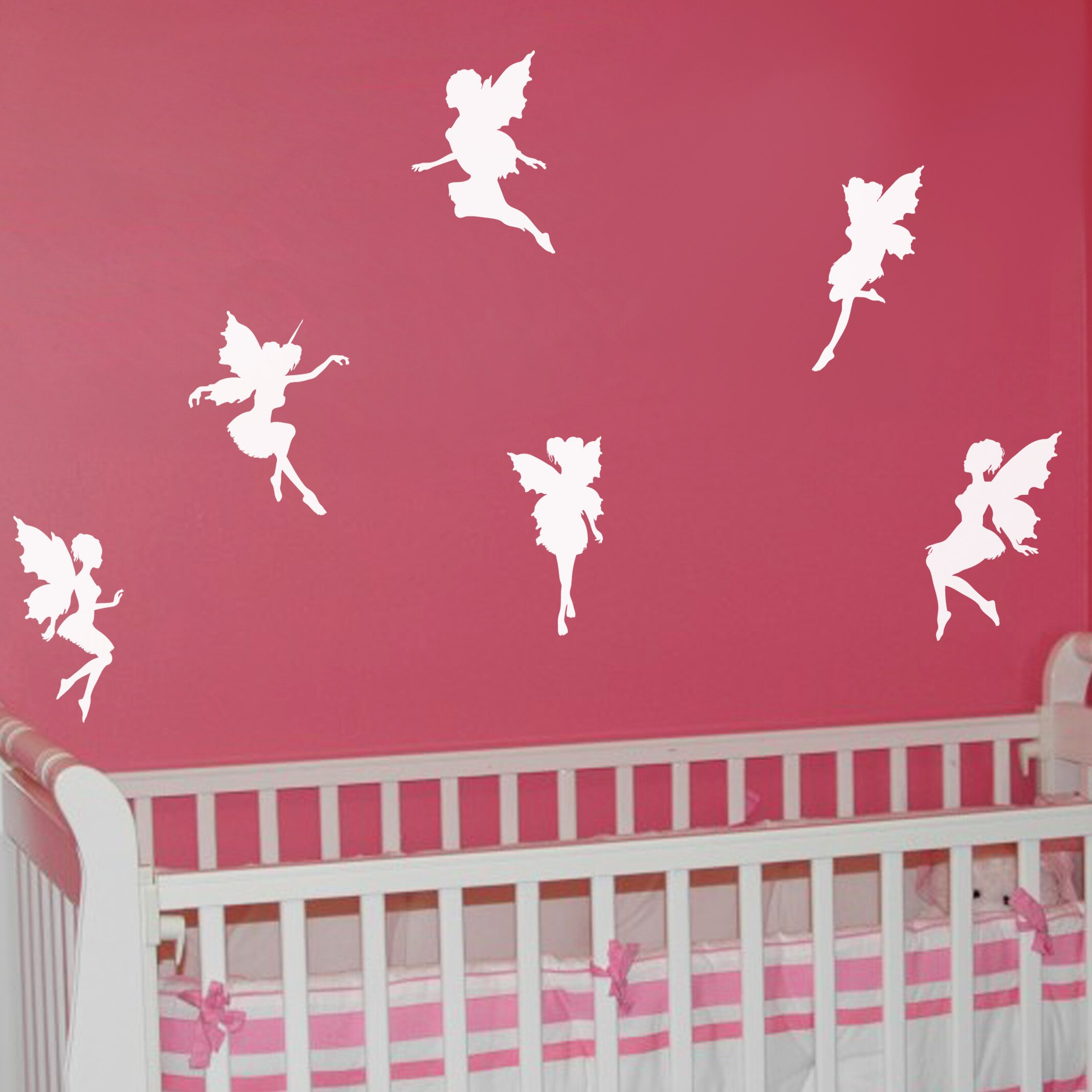 nutmeg wall stickers 6 piece fairies wall sticker set pics photos kitchen wall sticker by nutmeg wall art