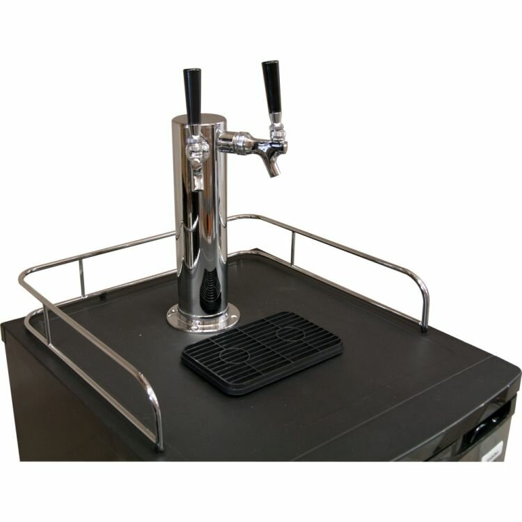 Kegco Dual Tap Freestanding Beer Dispenser Wayfair
