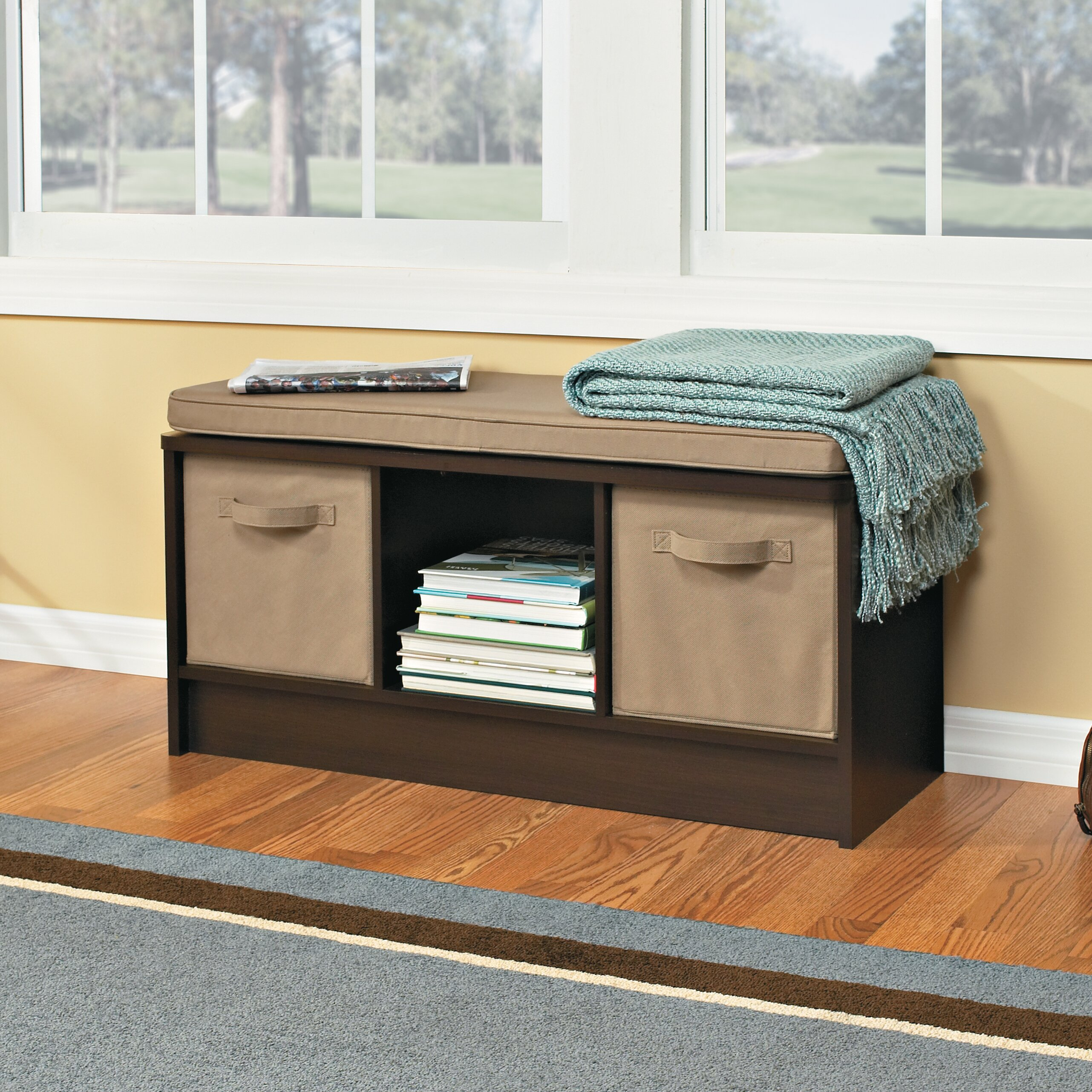 Closetmaid Cubeicals 3 Cube Storage Bench Reviews Wayfair Supply
