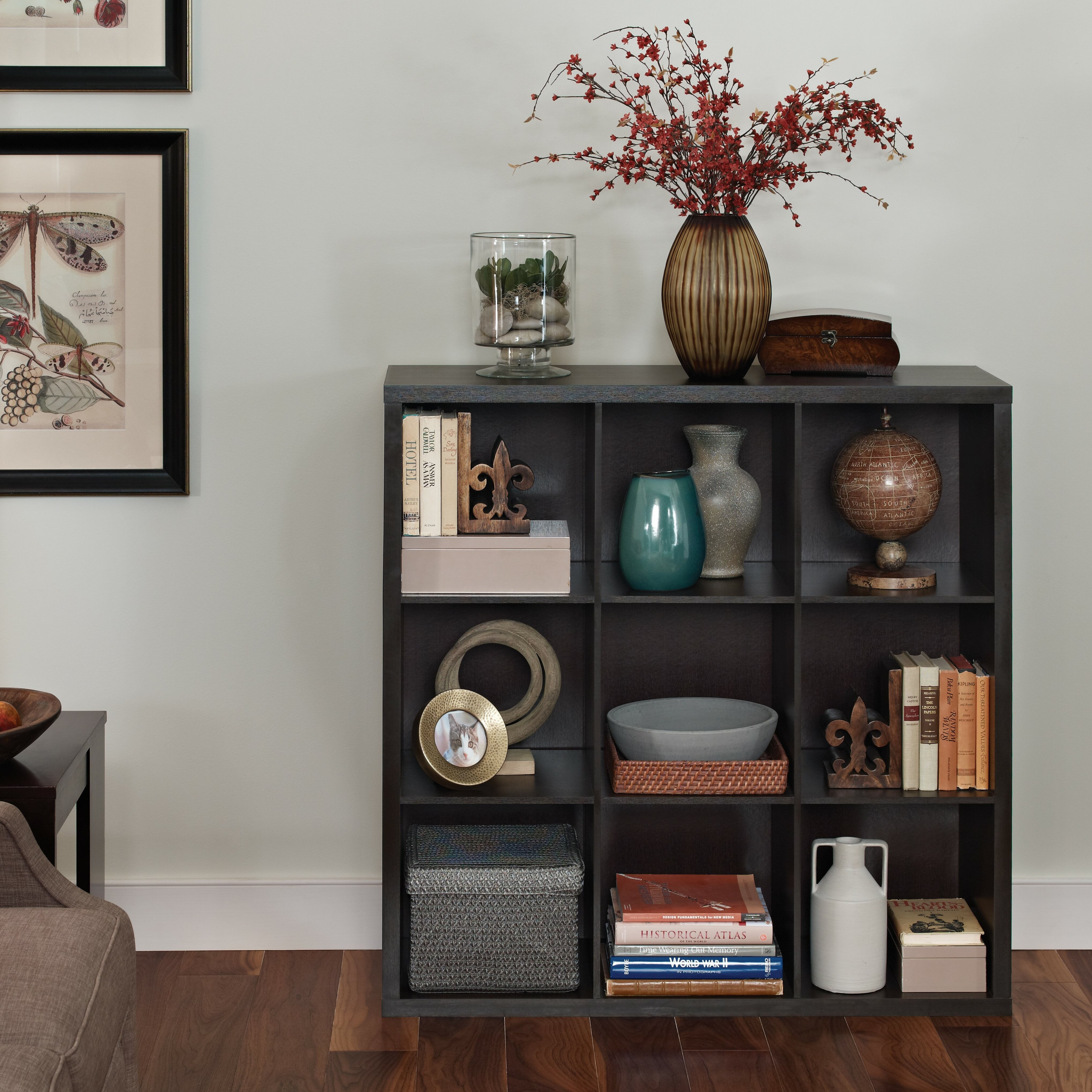 Closetmaid Decorative Storage 43 Quot Cube Unit Bookcase