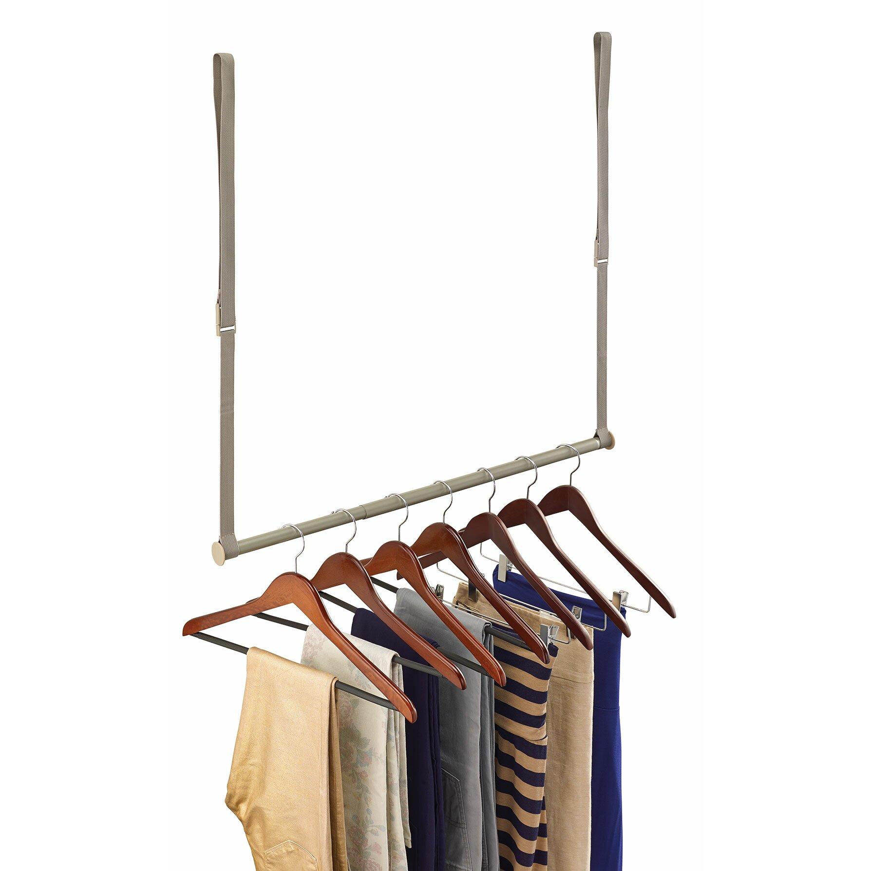 Double Hanging Wardrobe: ClosetMaid Double Hang Closet Rod & Reviews