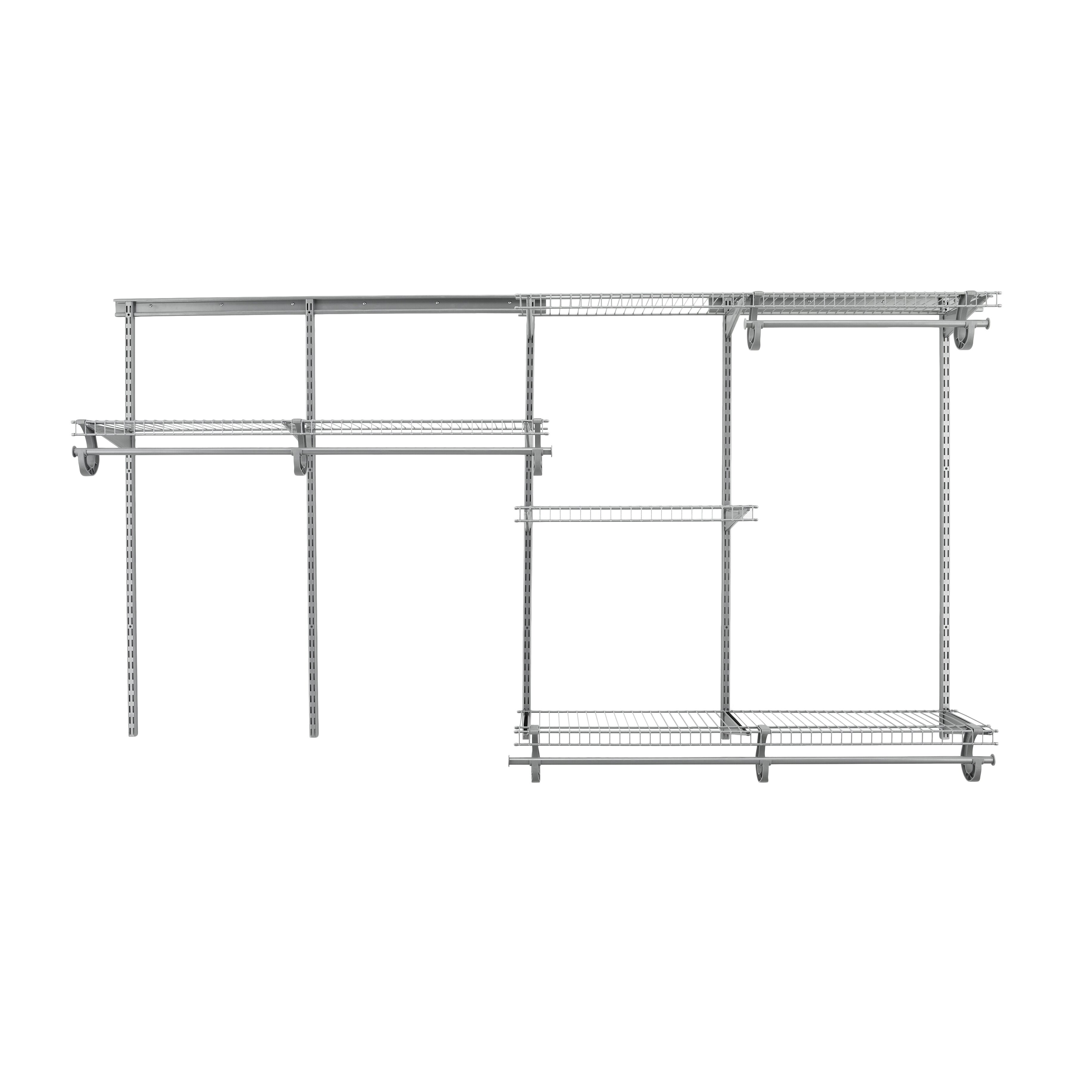 ClosetMaid ShelfTrack 60u0026quot;W - 96u0026quot;W Closet System u0026 Reviews : Wayfair