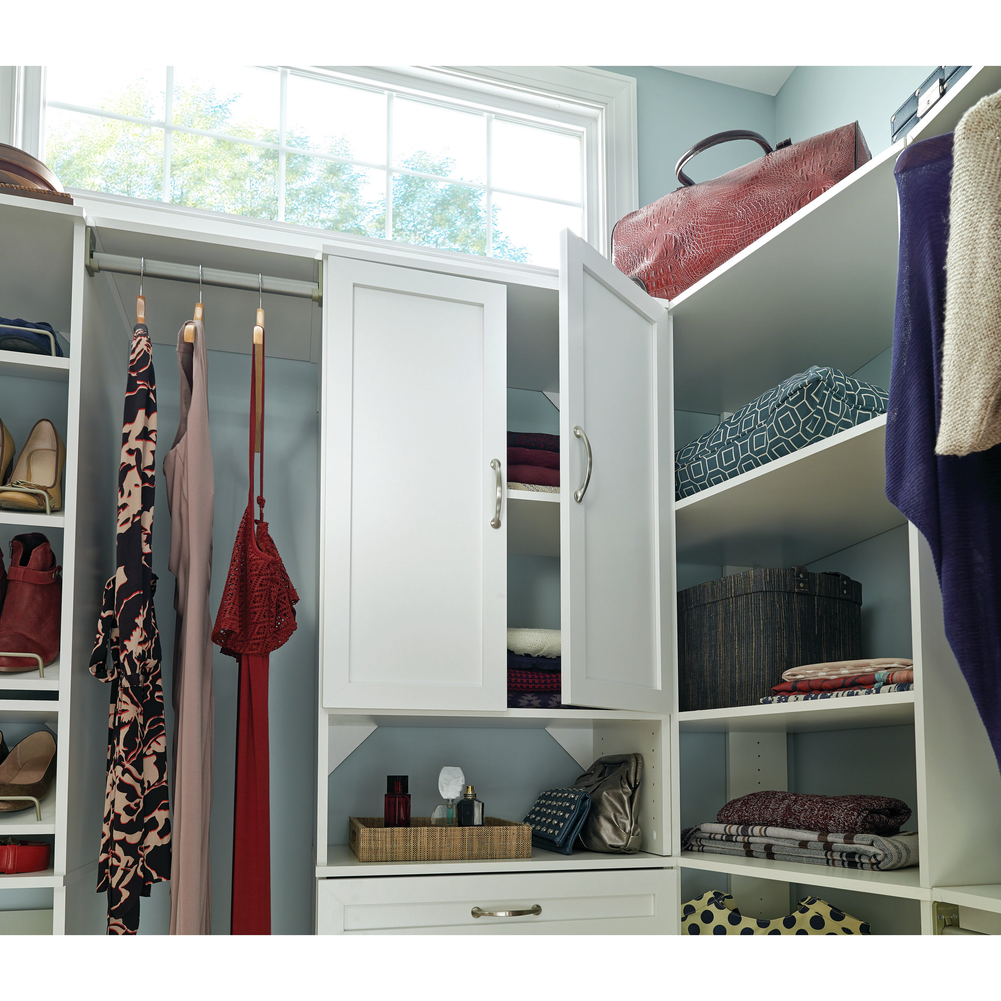 Closetmaid suitesymphony wide closet doors for One day doors and closets reviews