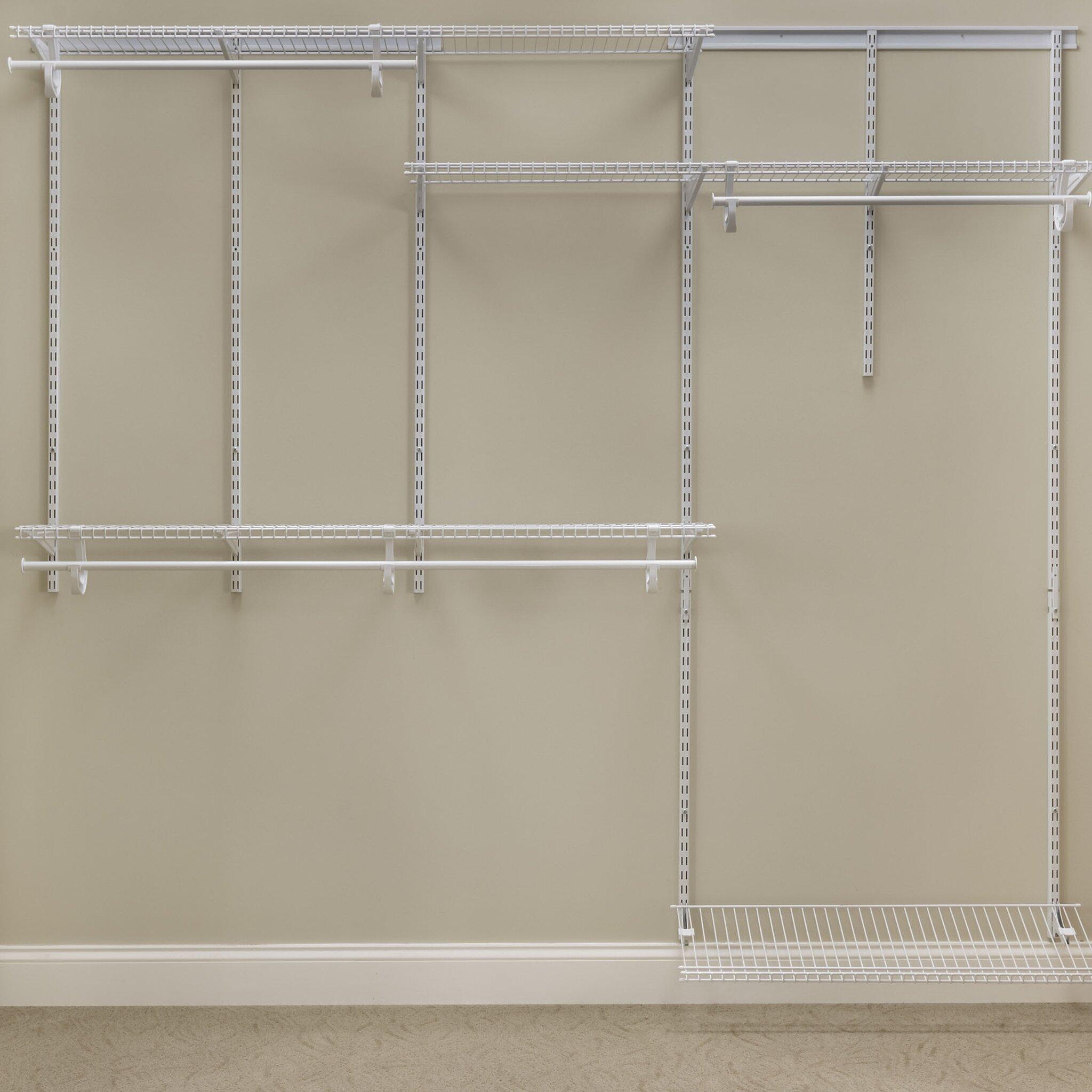 Closetmaid Shelftrack 60 Quot W 96 Quot W Closet System Amp Reviews