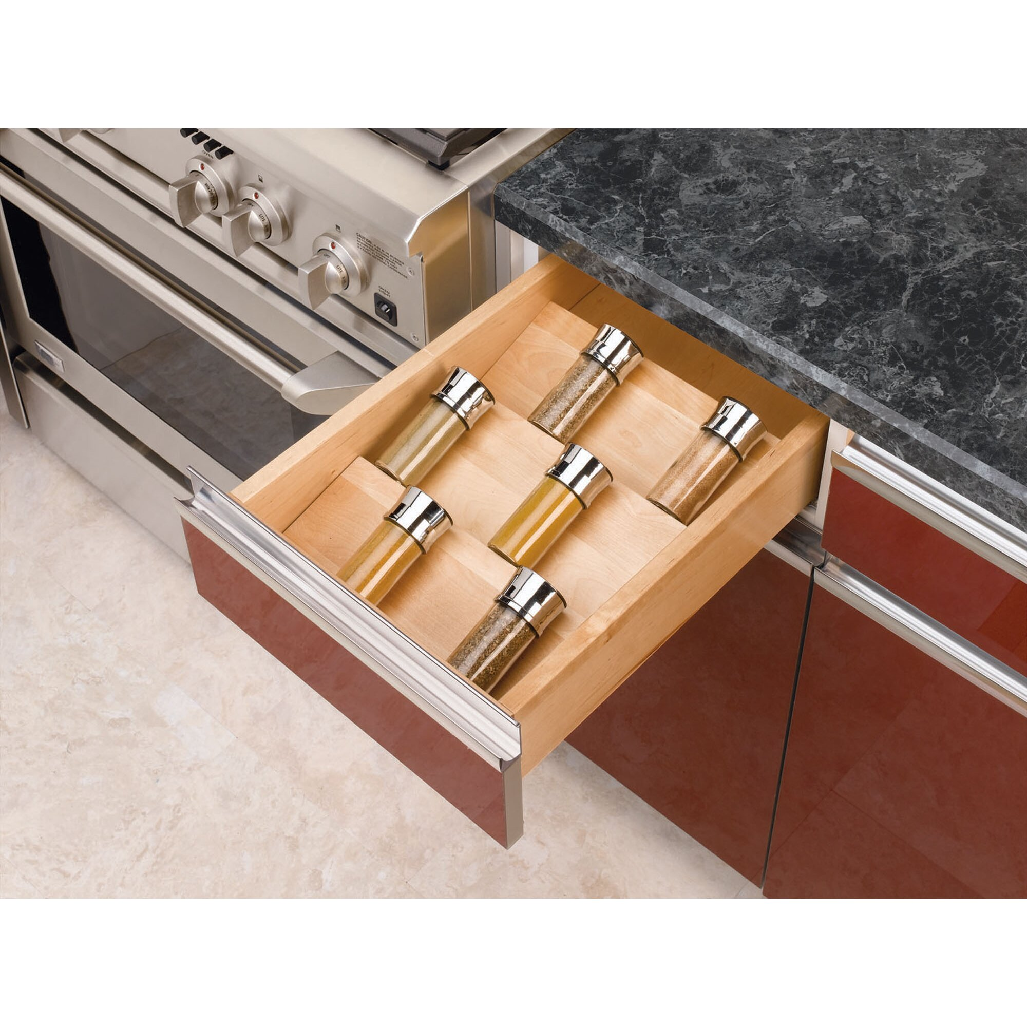 Drawer Organizers: Rev-A-Shelf Wood Spice Drawer Insert & Reviews