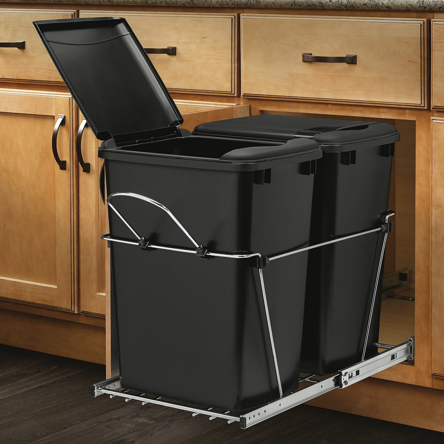 rev a shelf double gallon roll out waste container. Black Bedroom Furniture Sets. Home Design Ideas