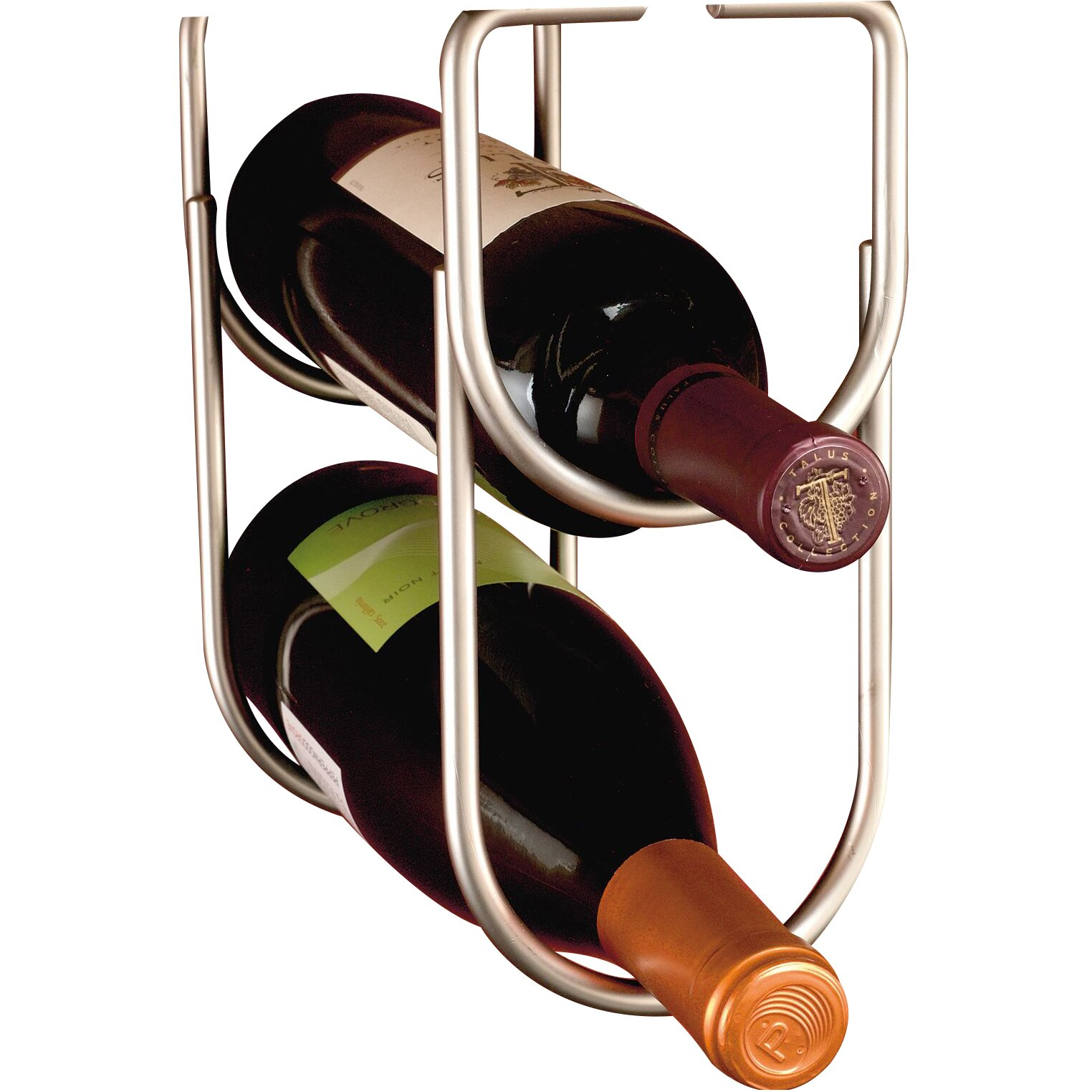 Rev A Shelf 2 Bottle Hanging Wine Rack Amp Reviews Wayfair