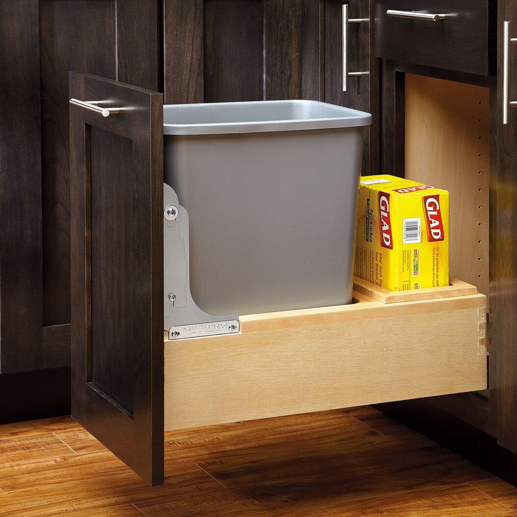 rev a shelf gallon pull out bottom mount waste. Black Bedroom Furniture Sets. Home Design Ideas