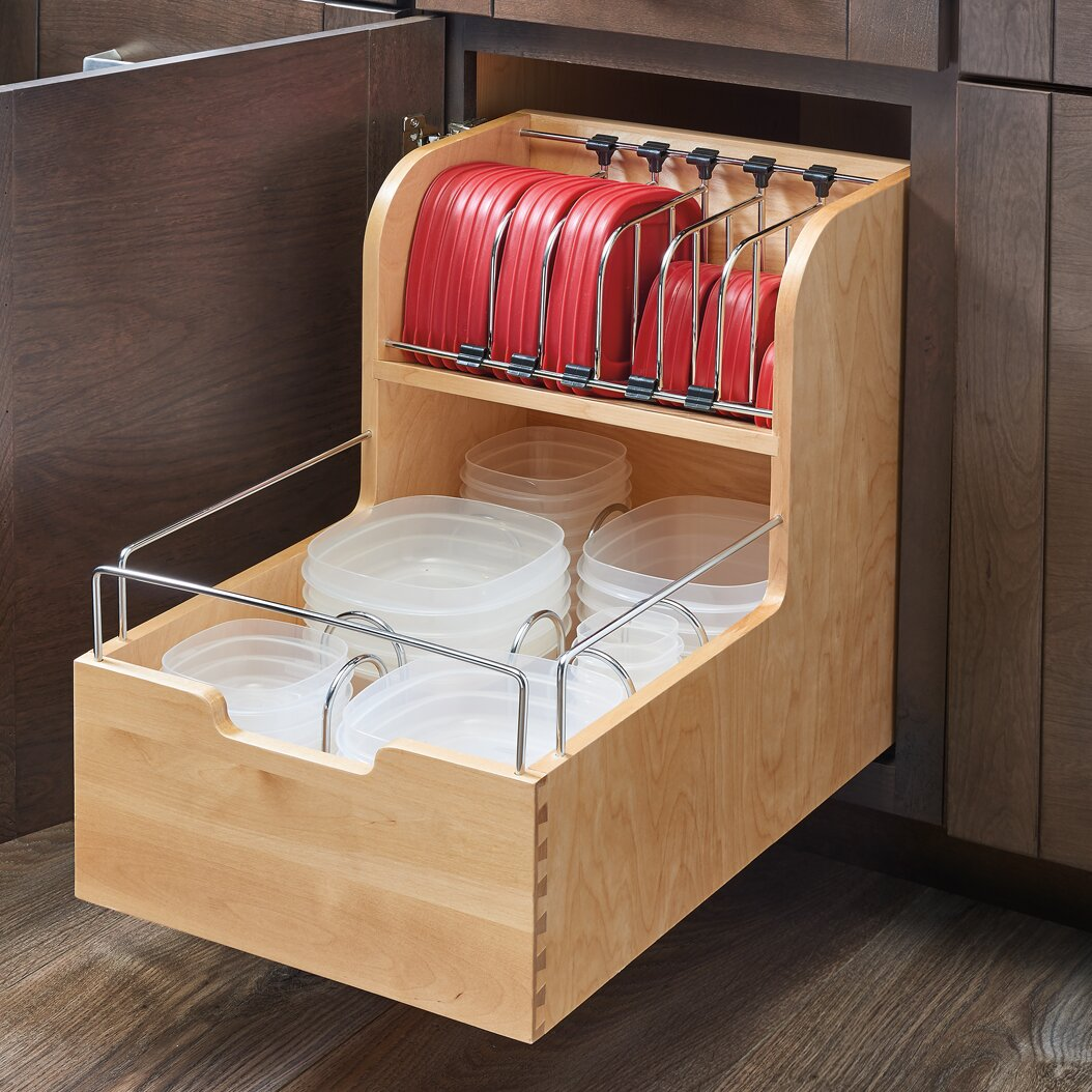 Food Storage Container Organizer For Base Cabinets