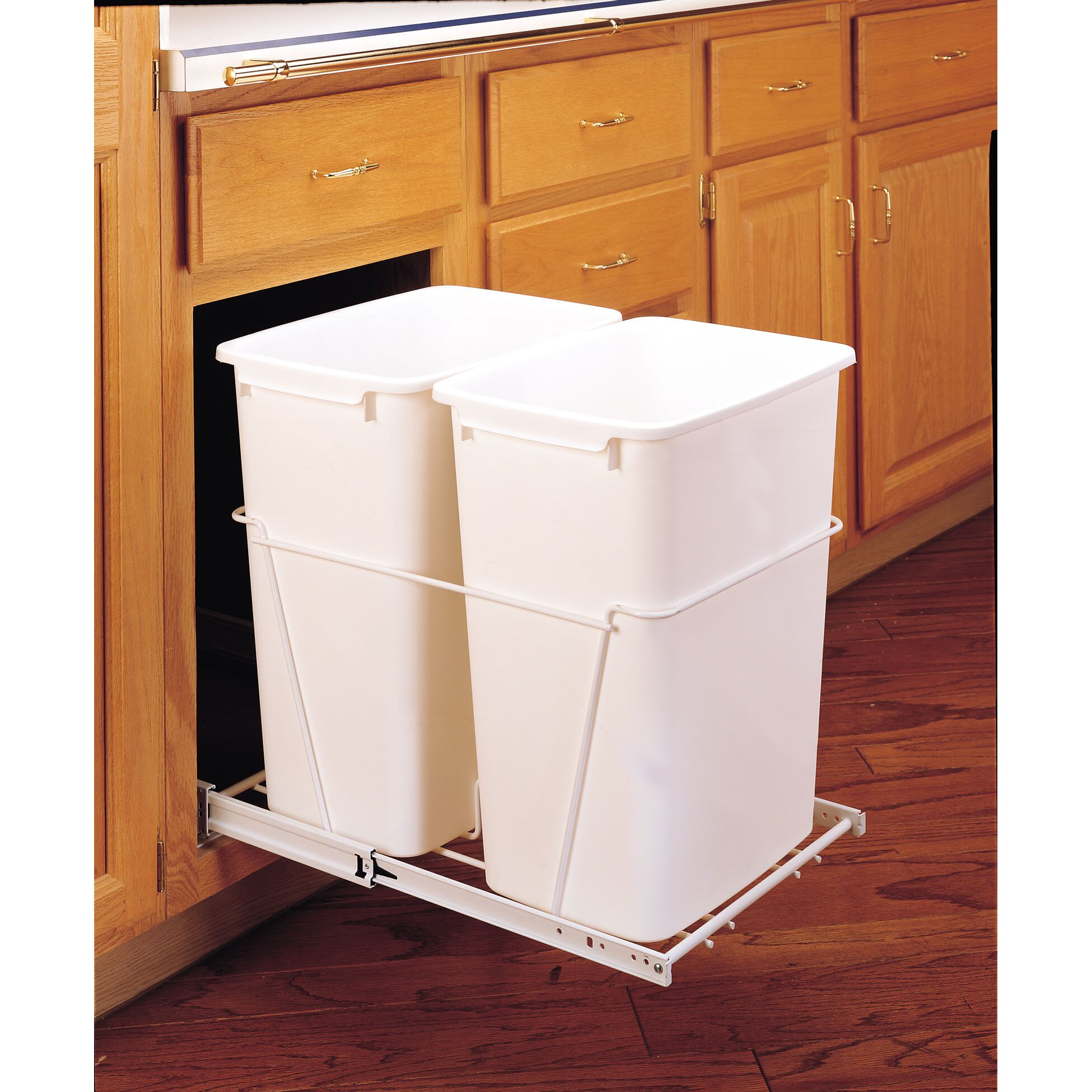 rev a shelf gallon pull out waste containers. Black Bedroom Furniture Sets. Home Design Ideas