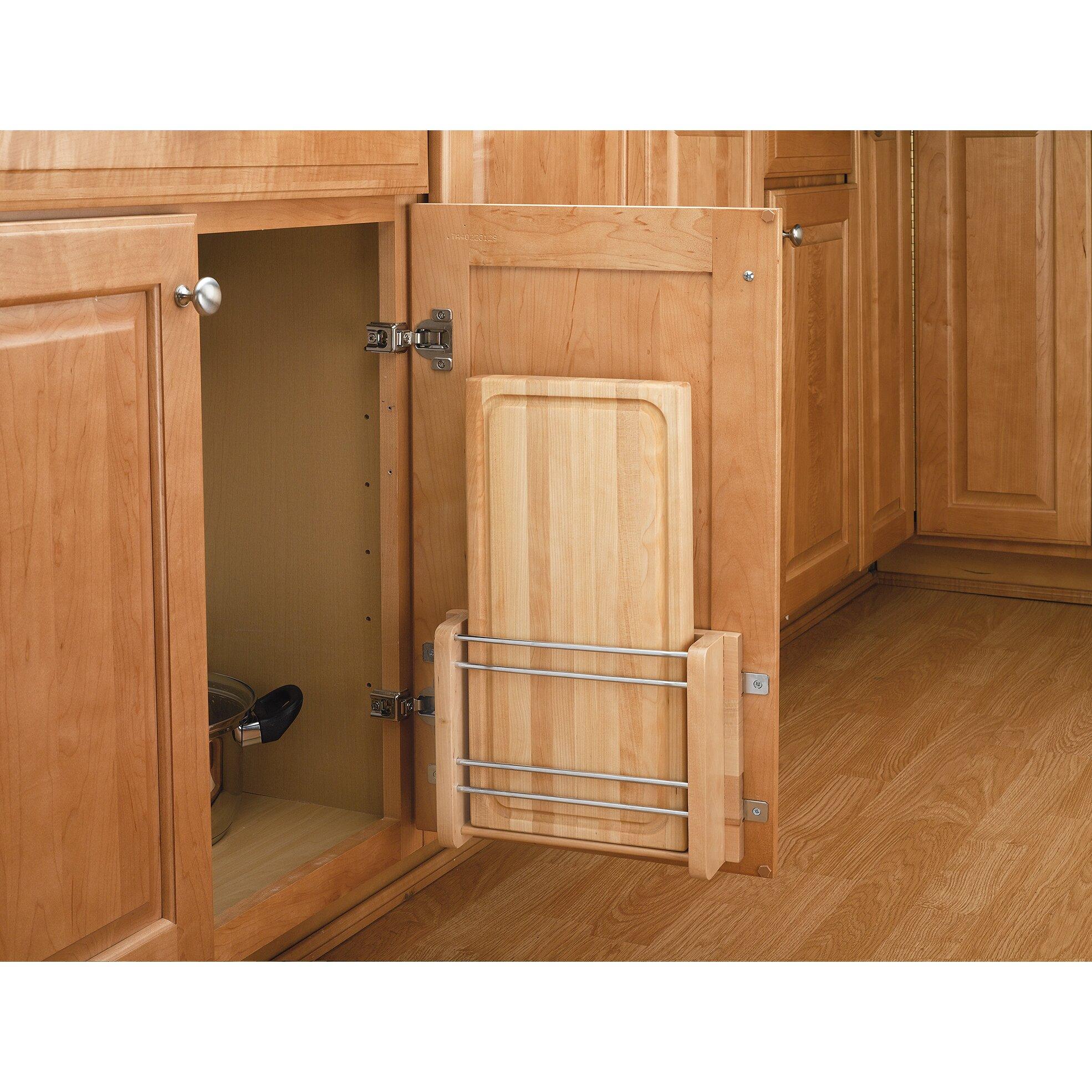 Cutting Kitchen Cabinets: Rev-A-Shelf Cabinet Door Mount Cutting Board
