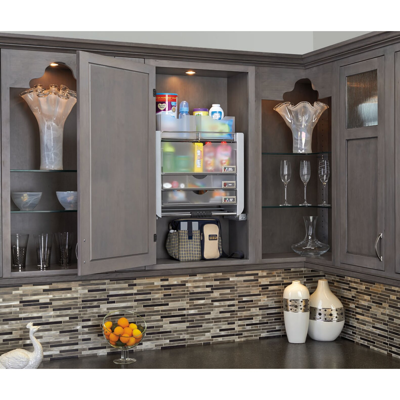 Pull Down Kitchen Cabinets: Rev-A-Shelf Universal Wall Cabinet Pull-Down Shelving