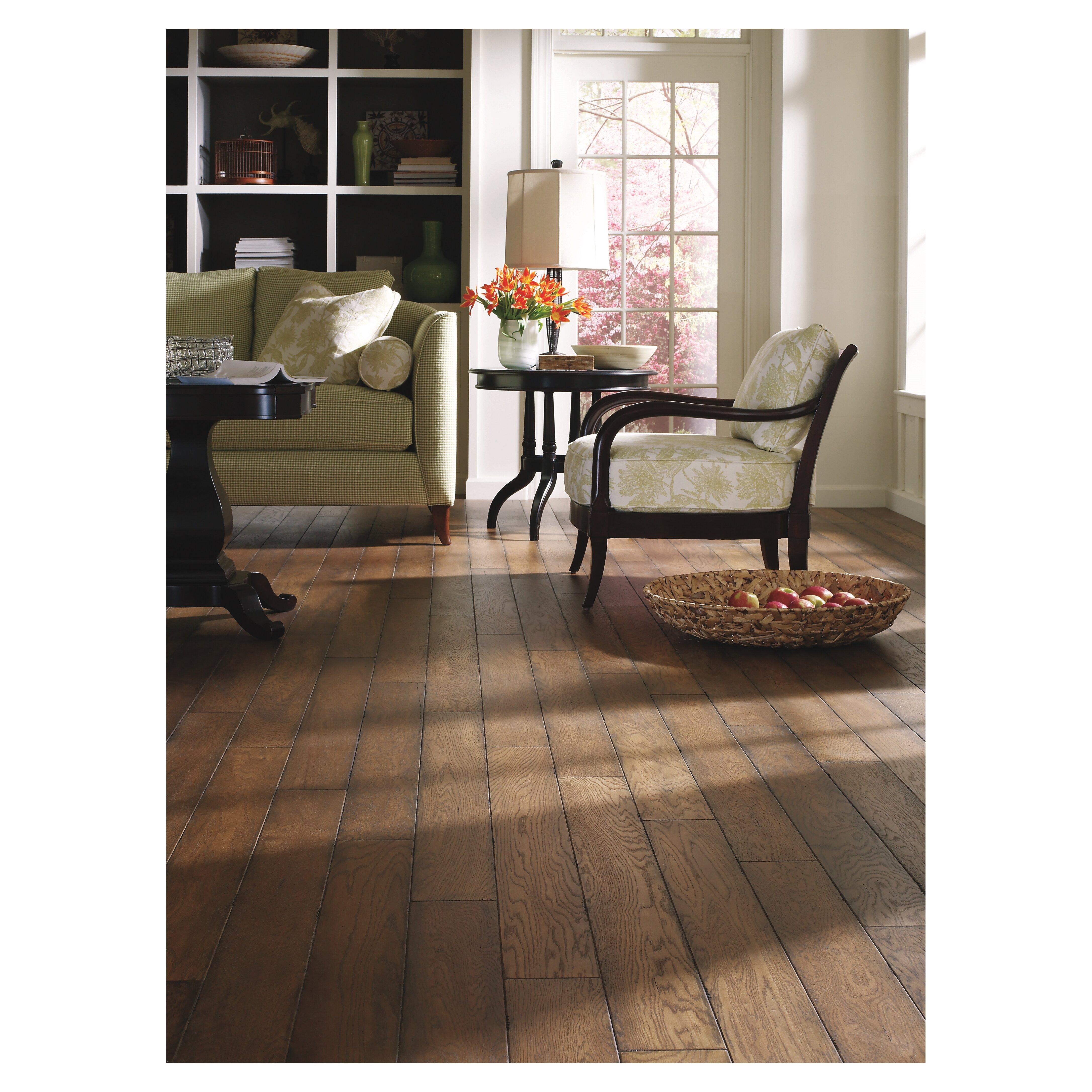 """White Engineered Wood Flooring: Easoon USA 5"""" Engineered White Oak Hardwood Flooring In"""