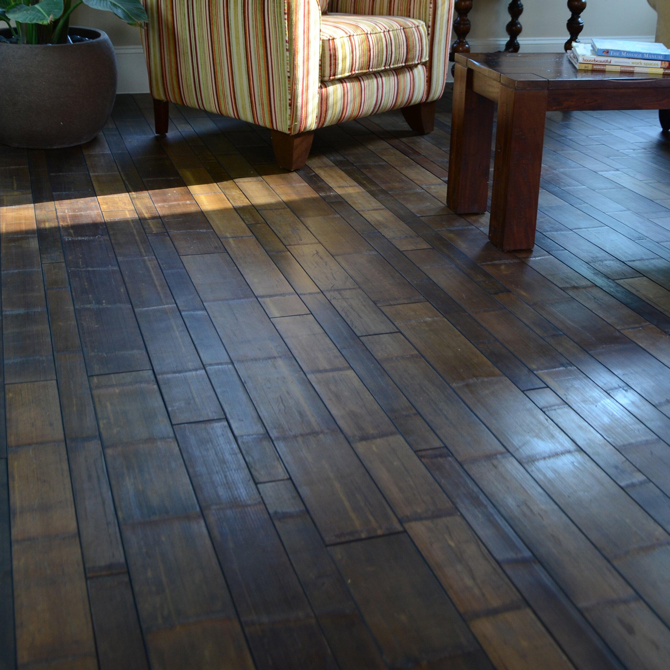 Easoon usa random width solid bamboo hardwood flooring in for Solid bamboo flooring