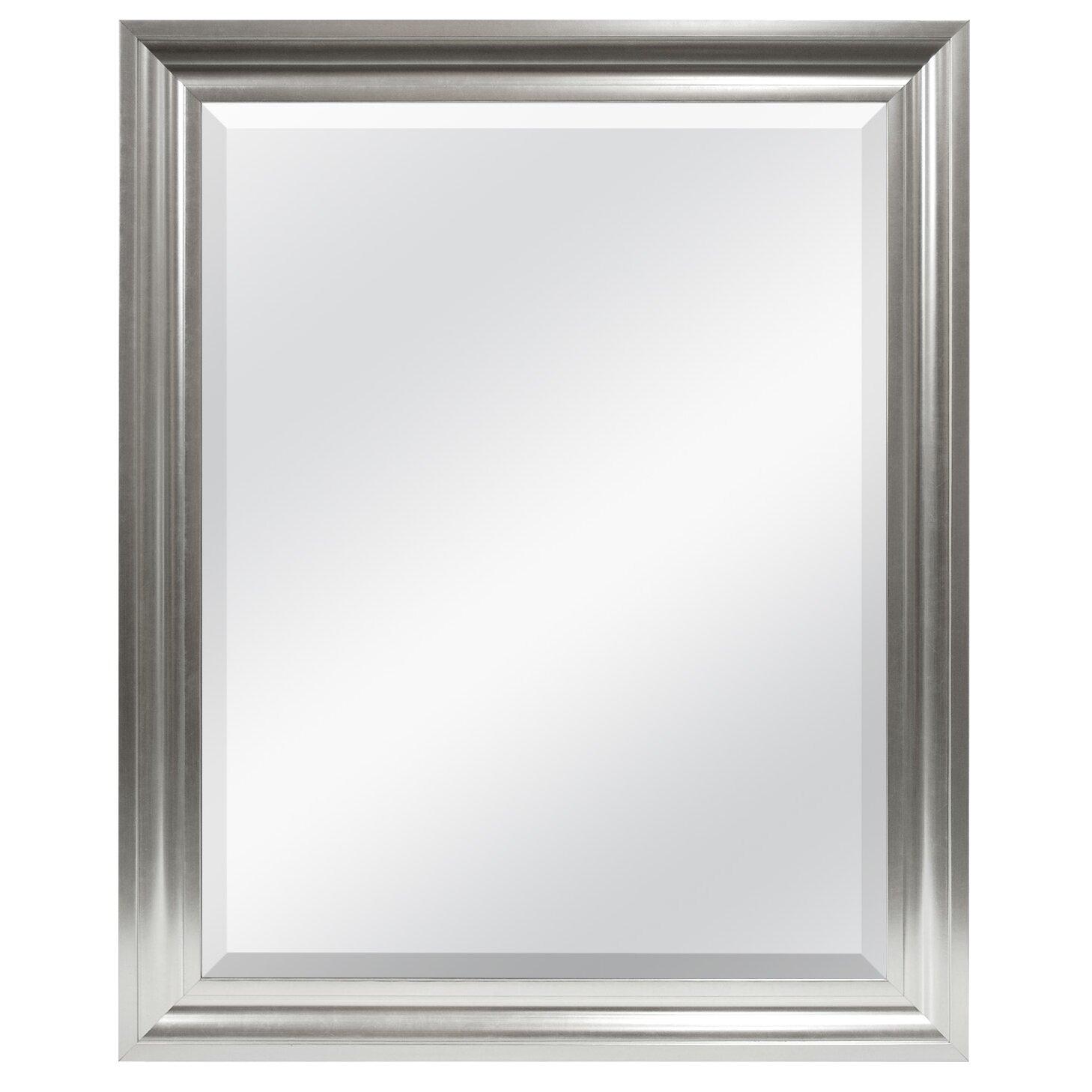 Mcsindustries beveled wall mirror reviews wayfair for Beveled mirror