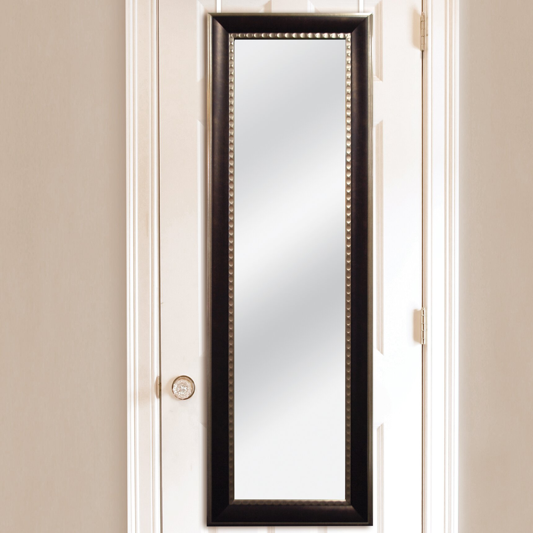 mcsindustries two tone over the door mirror reviews. Black Bedroom Furniture Sets. Home Design Ideas
