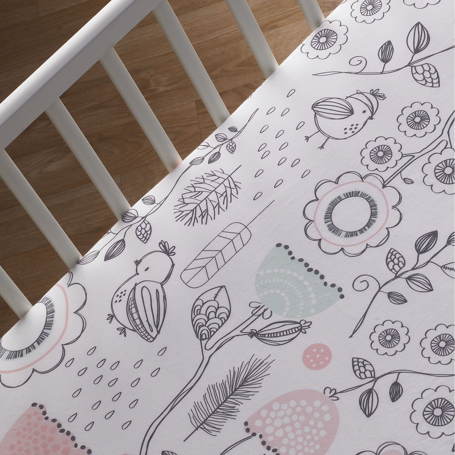 Lolli Living Sparrow Print Fitted Crib Sheet Amp Reviews