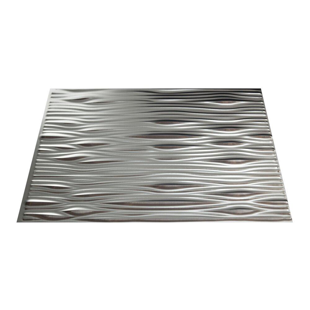 """fasade waves 1825"""" x 2425"""" pvc backsplash panel kit in"""