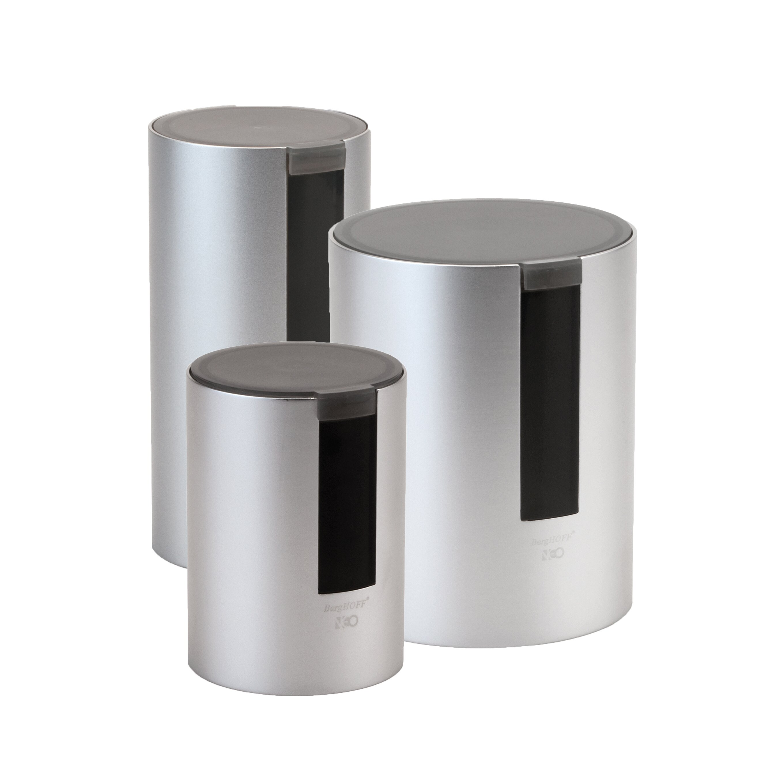 Berghoff neo 3 piece canister set reviews wayfair for Hearth and home designs canister set