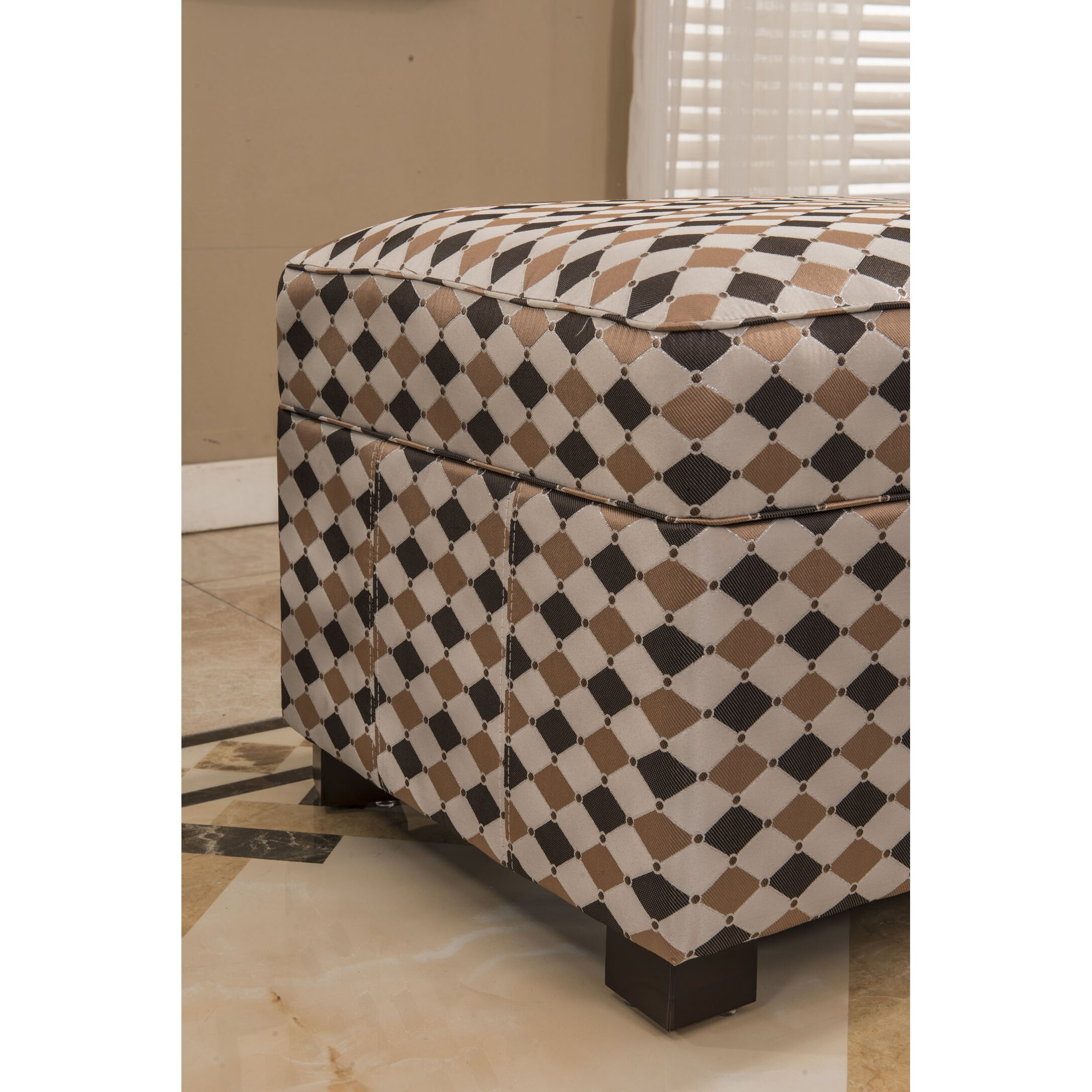 Bellasario Collection Plaid Storage Ottoman Wayfair