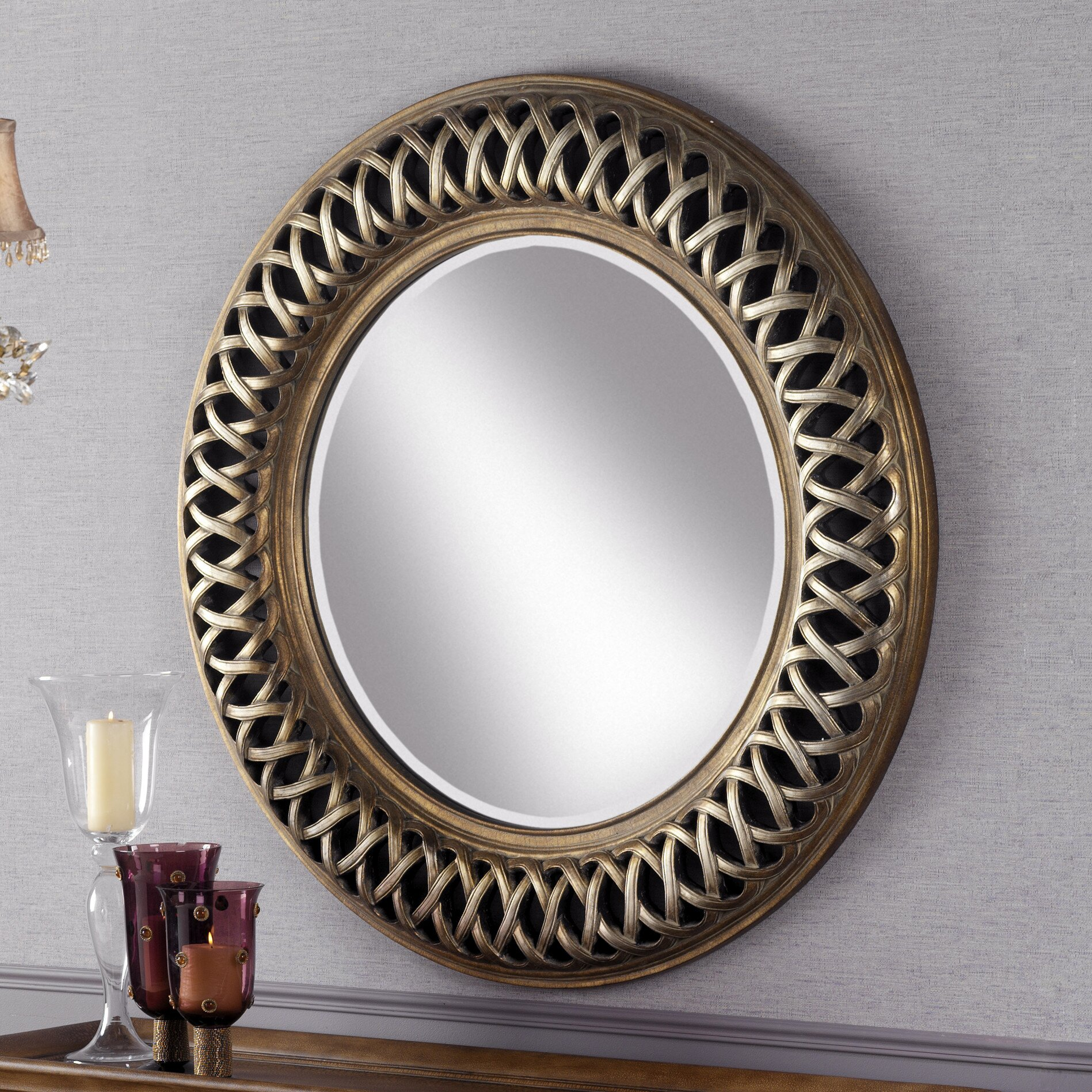 schuller classic round mirror reviews wayfair uk