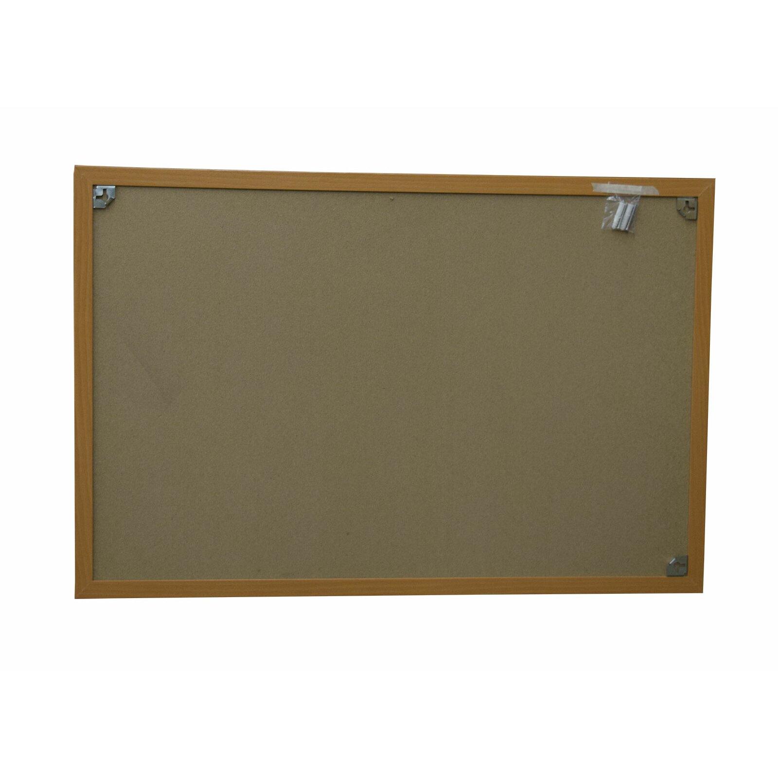 Neoplex Wood Framed Cork Wall Mounted Bulletin Board