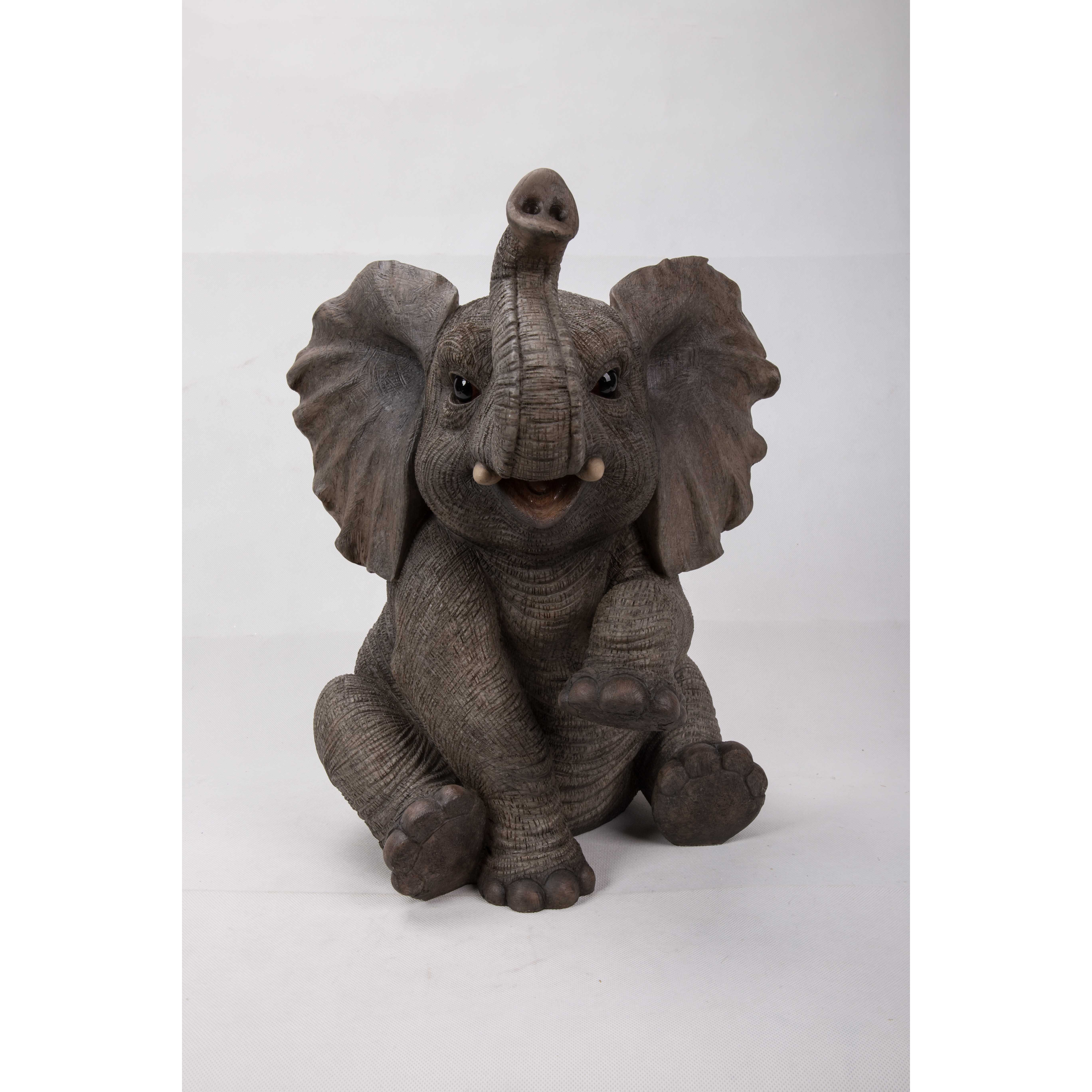 California King Size Bedroom Furniture Sets Hi Line Gift Ltd Sitting Elephant Baby With Trunk Up