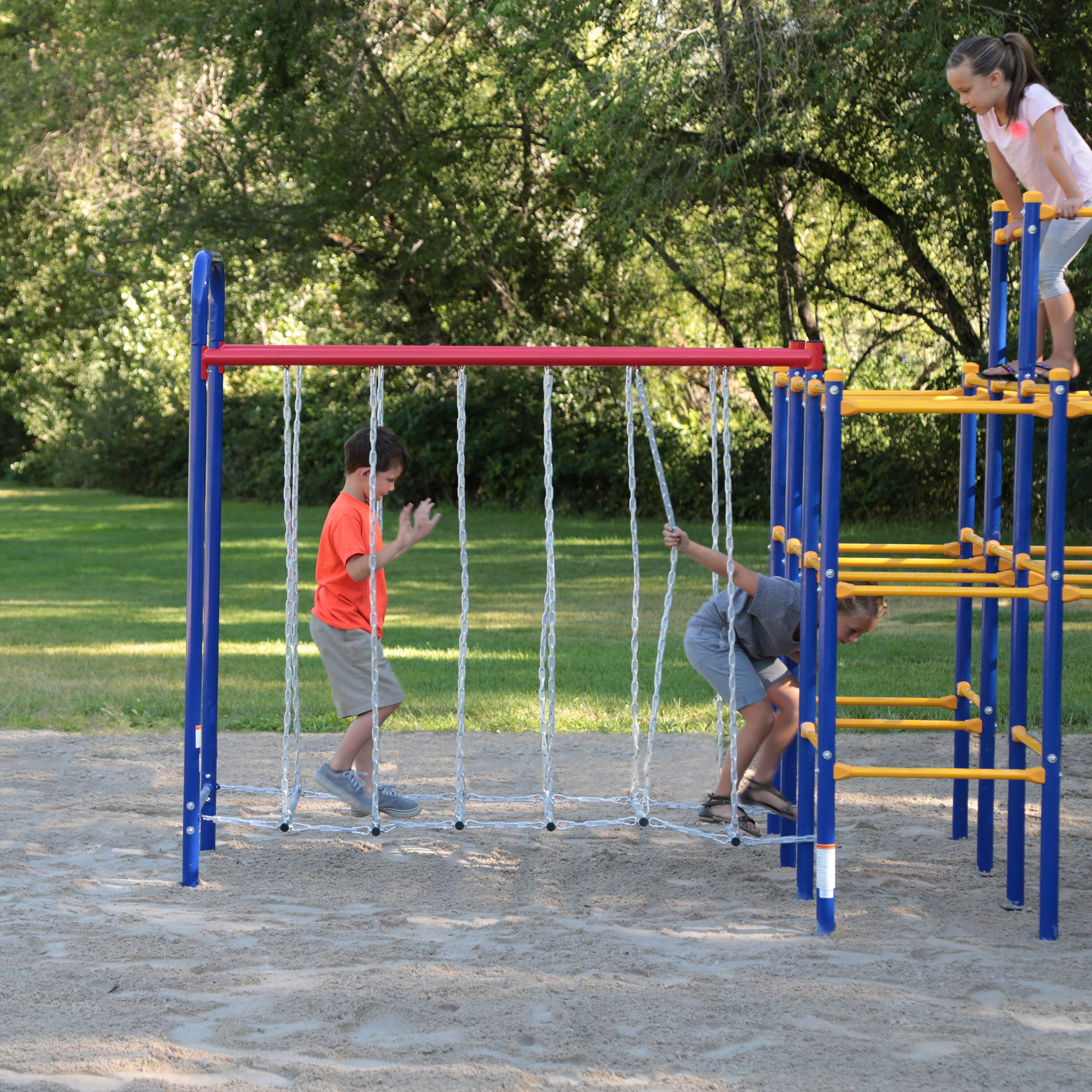 skywalker sports sports modular jungle gym combo set