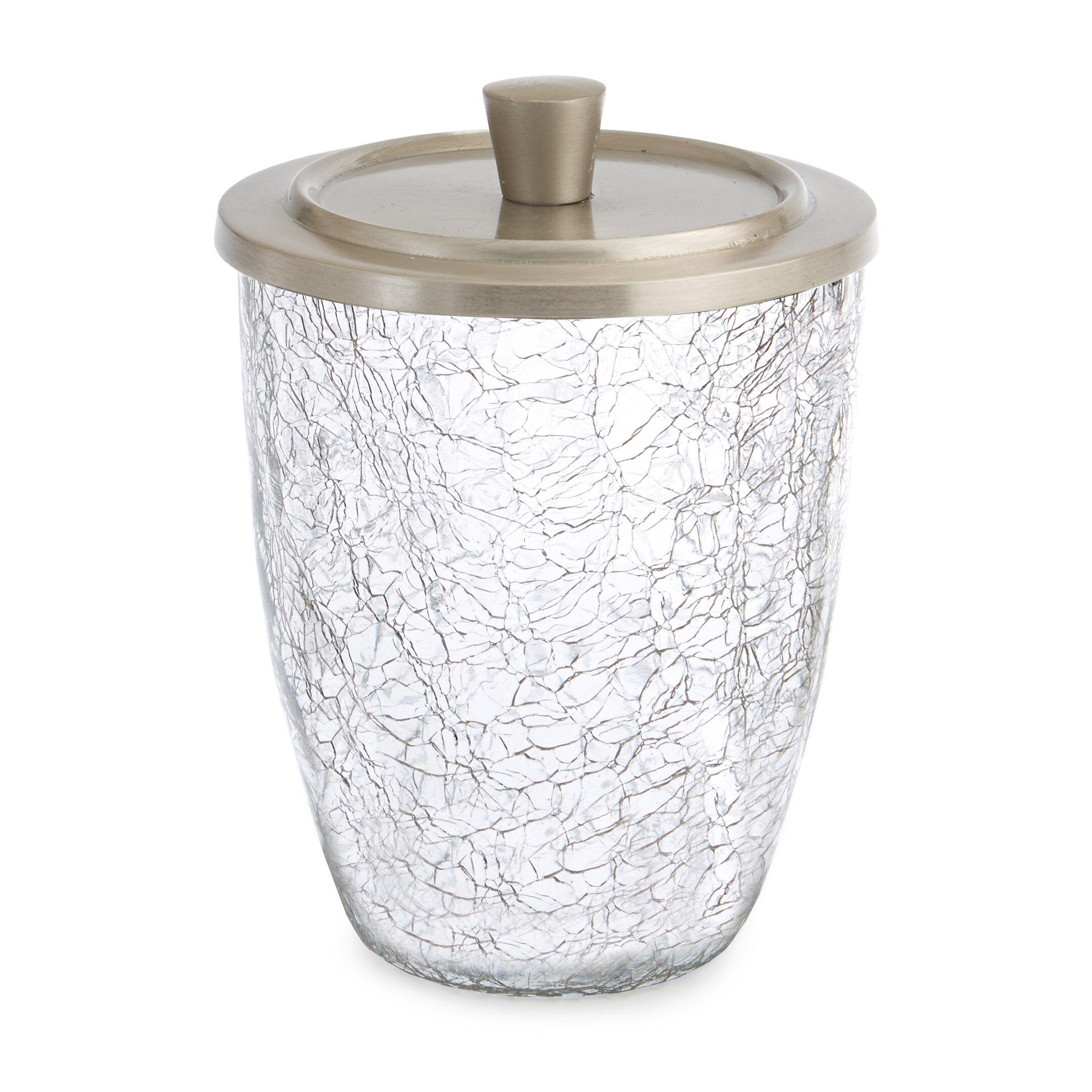 Paradigm trends heirloom crackle 7 piece bathroom for Crackle glass bathroom set