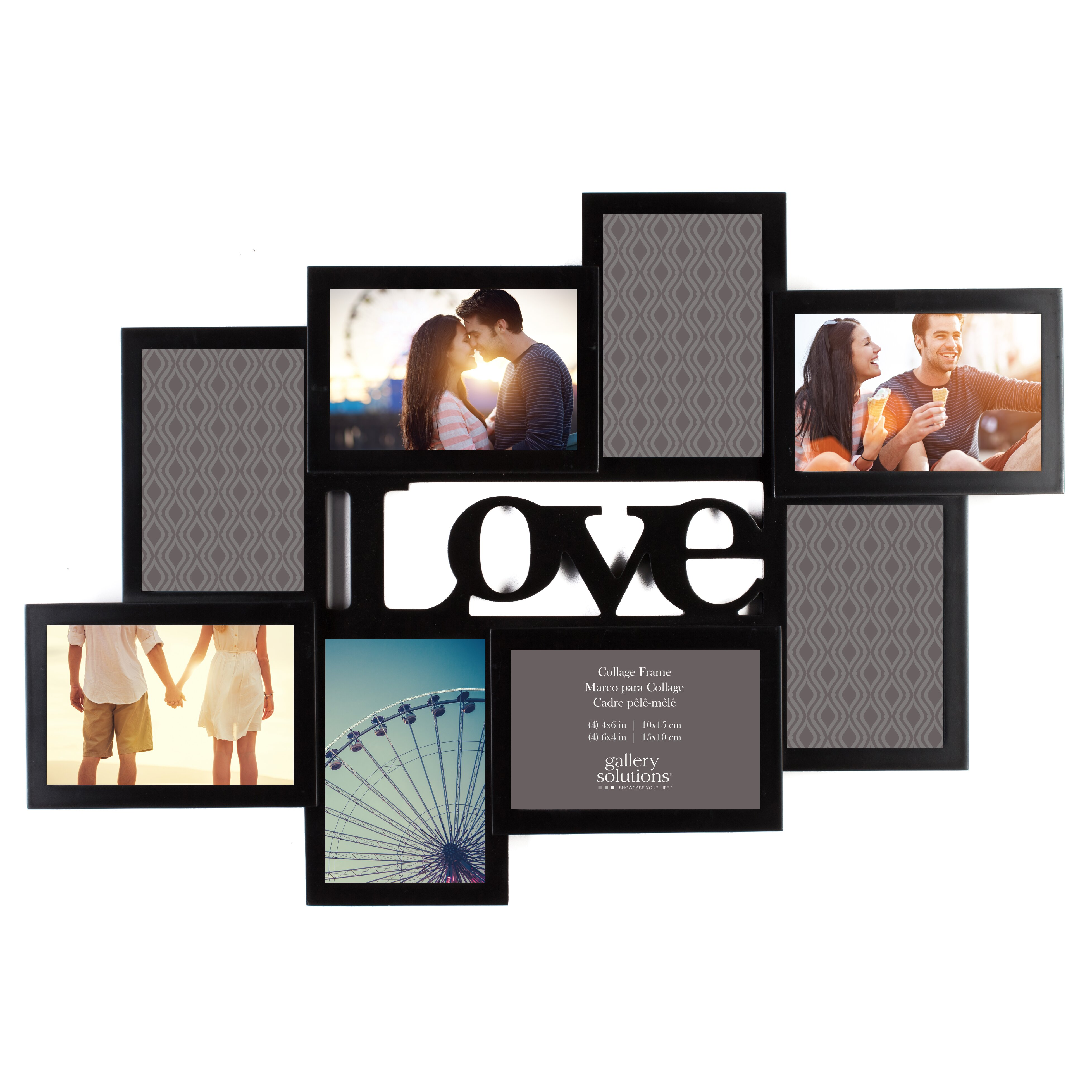 nielsenbainbridge gallery solutions 8 opening love cutout collage picture frame reviews wayfair. Black Bedroom Furniture Sets. Home Design Ideas