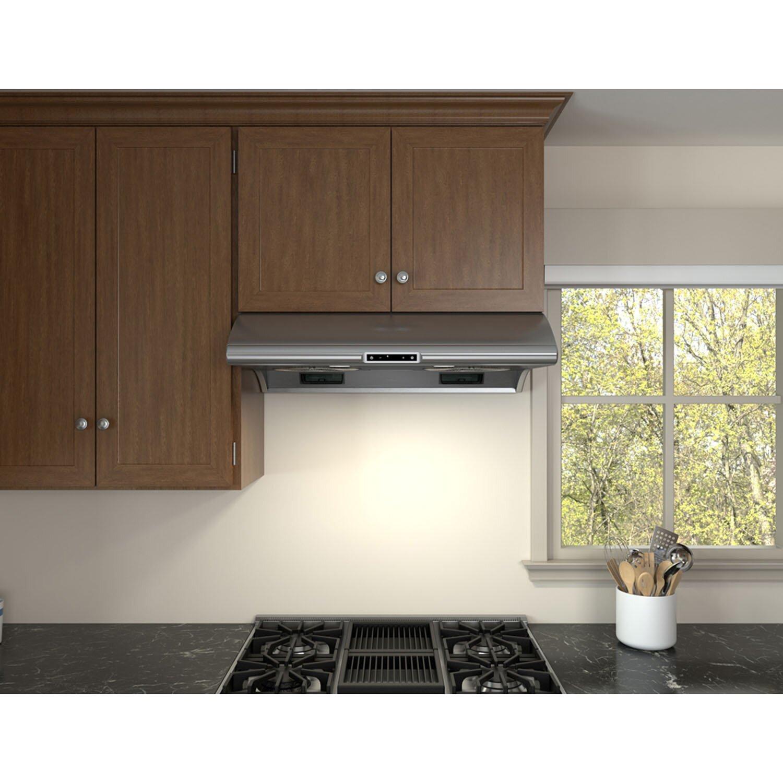 Zephyr essentials typhoon 850 cfm under cabinet for Wayfair kitchen cabinets