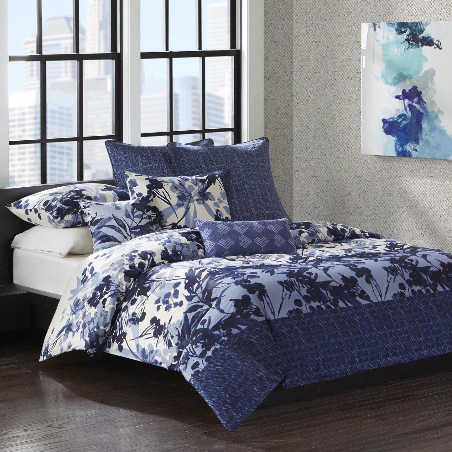 N Natori Yumi Botanical 4 Piece Reversible Comforter Set