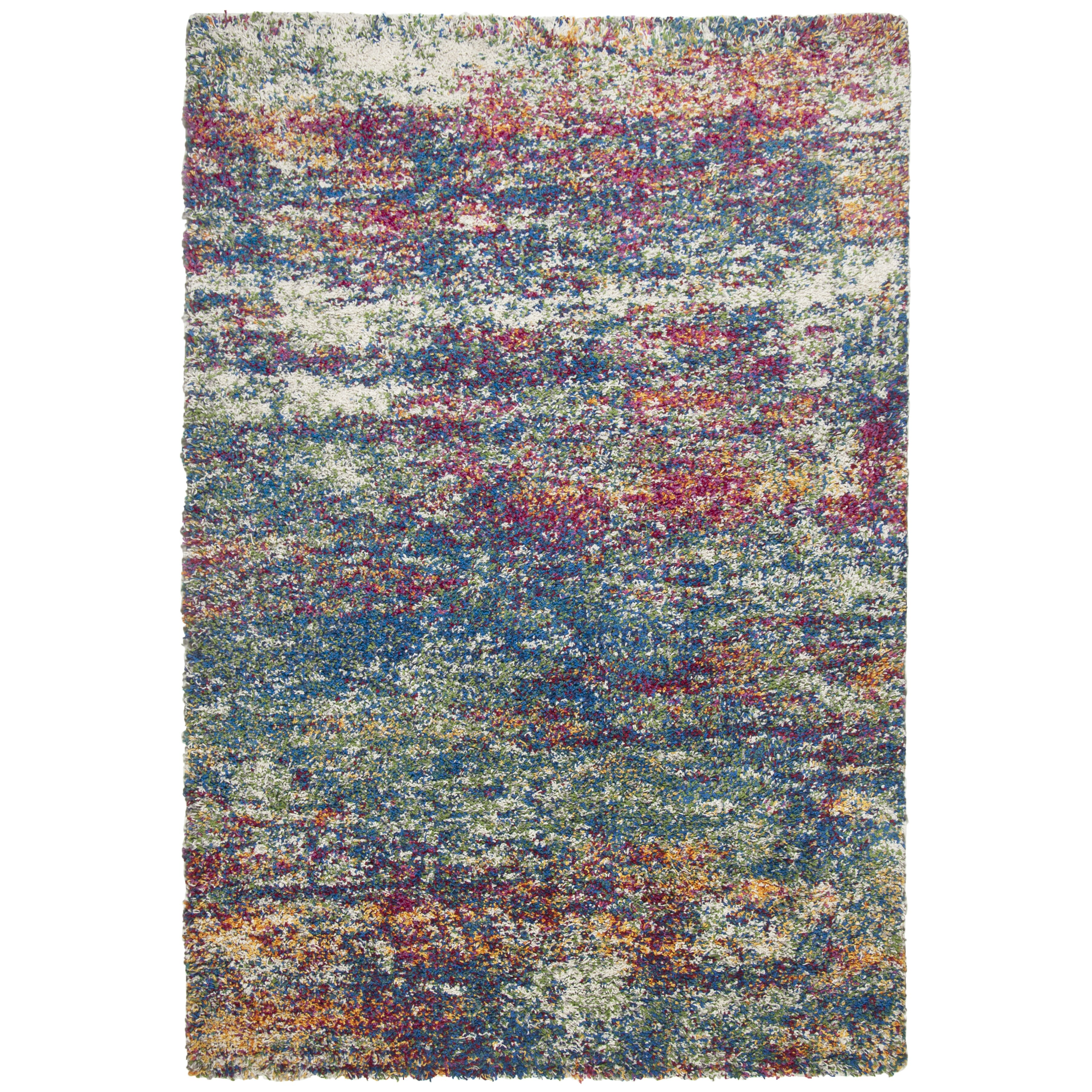 Theko Young Fashion MultiColoured and Blue Rug & Reviews