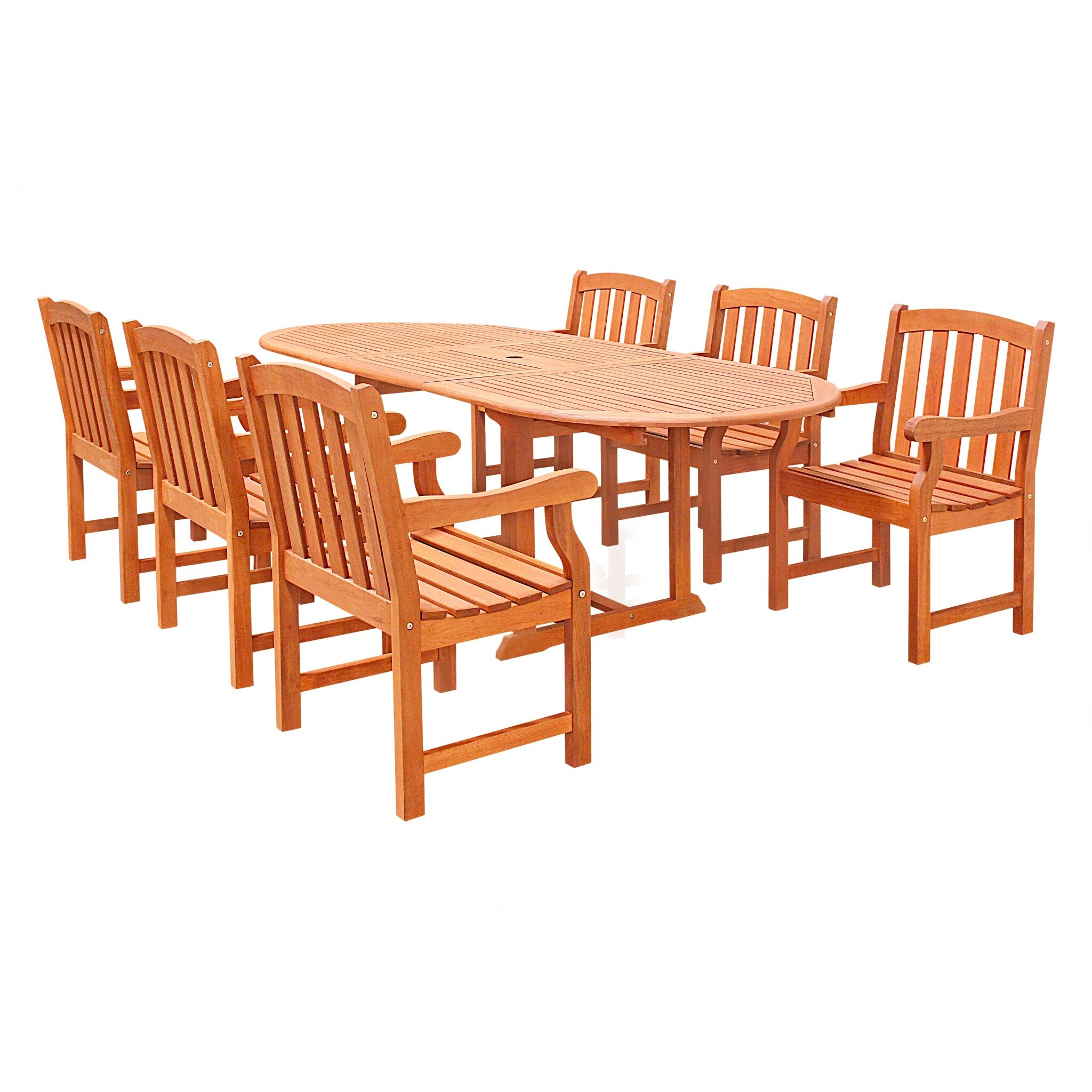 Vifah 7 piece dining set reviews wayfair for 7 piece dining set