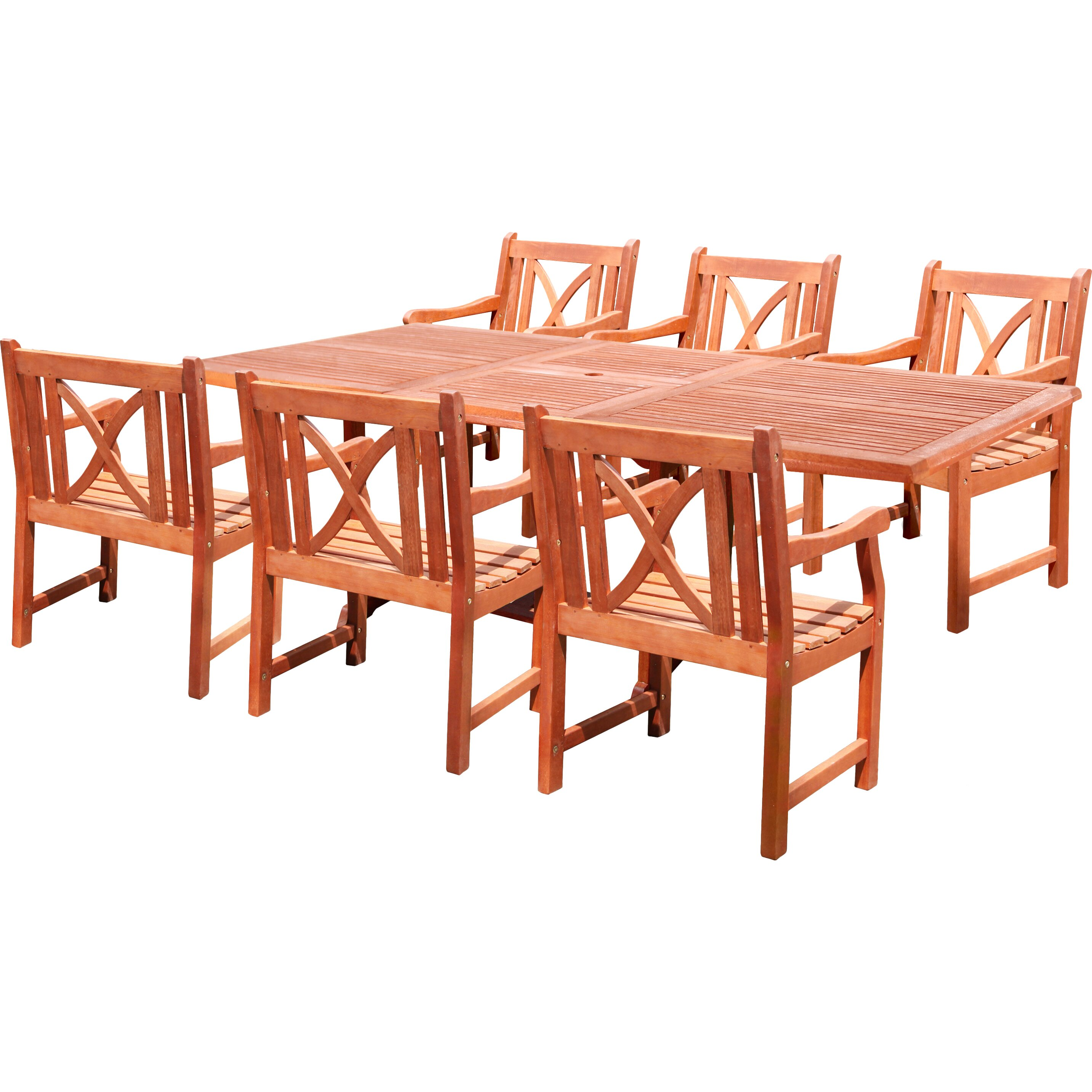 Vifah patio 7 piece dining set wayfair for 7 piece dining set