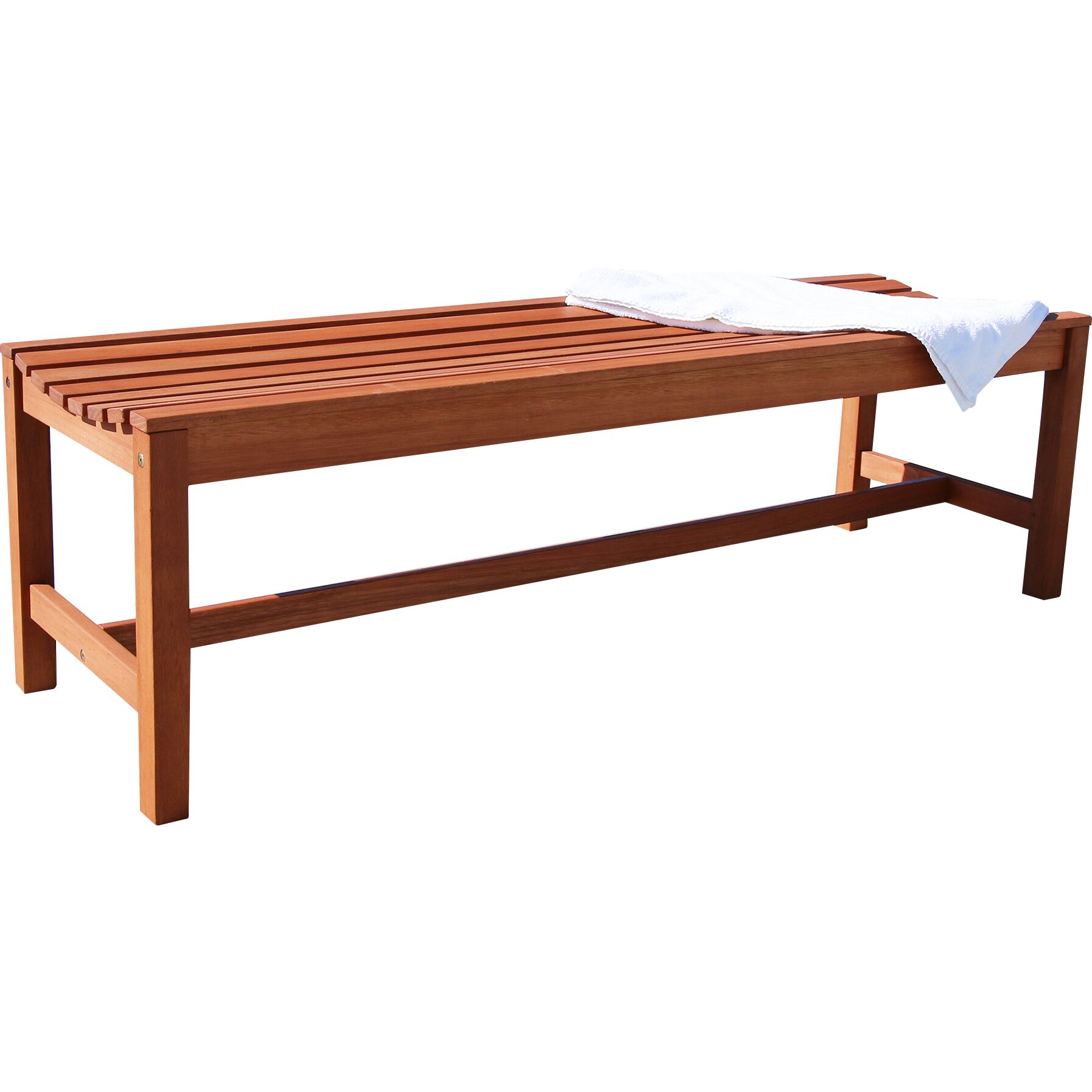 Vifah Wood Garden Bench Reviews Wayfair