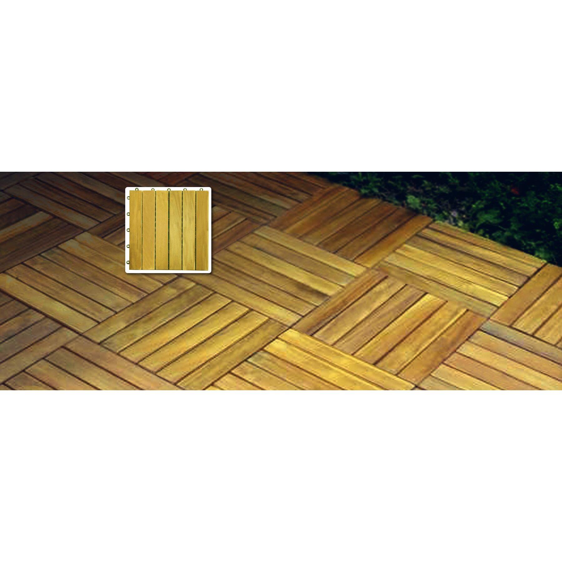 Vifah acacia 12 x 12 deck tiles reviews wayfair for Glass deck floor