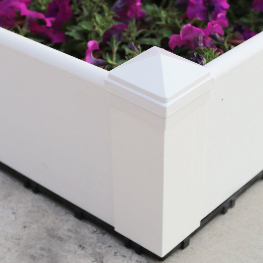Composite Pvc Planter Boxes For Decks And Patios: NewTechWood Composite Lumber Square Patio Raised Garden