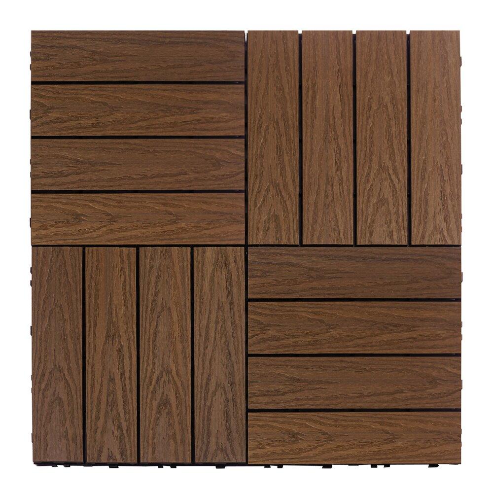 Newtechwood naturale composite 12 x 12 interlocking deck for Deck flooring materials